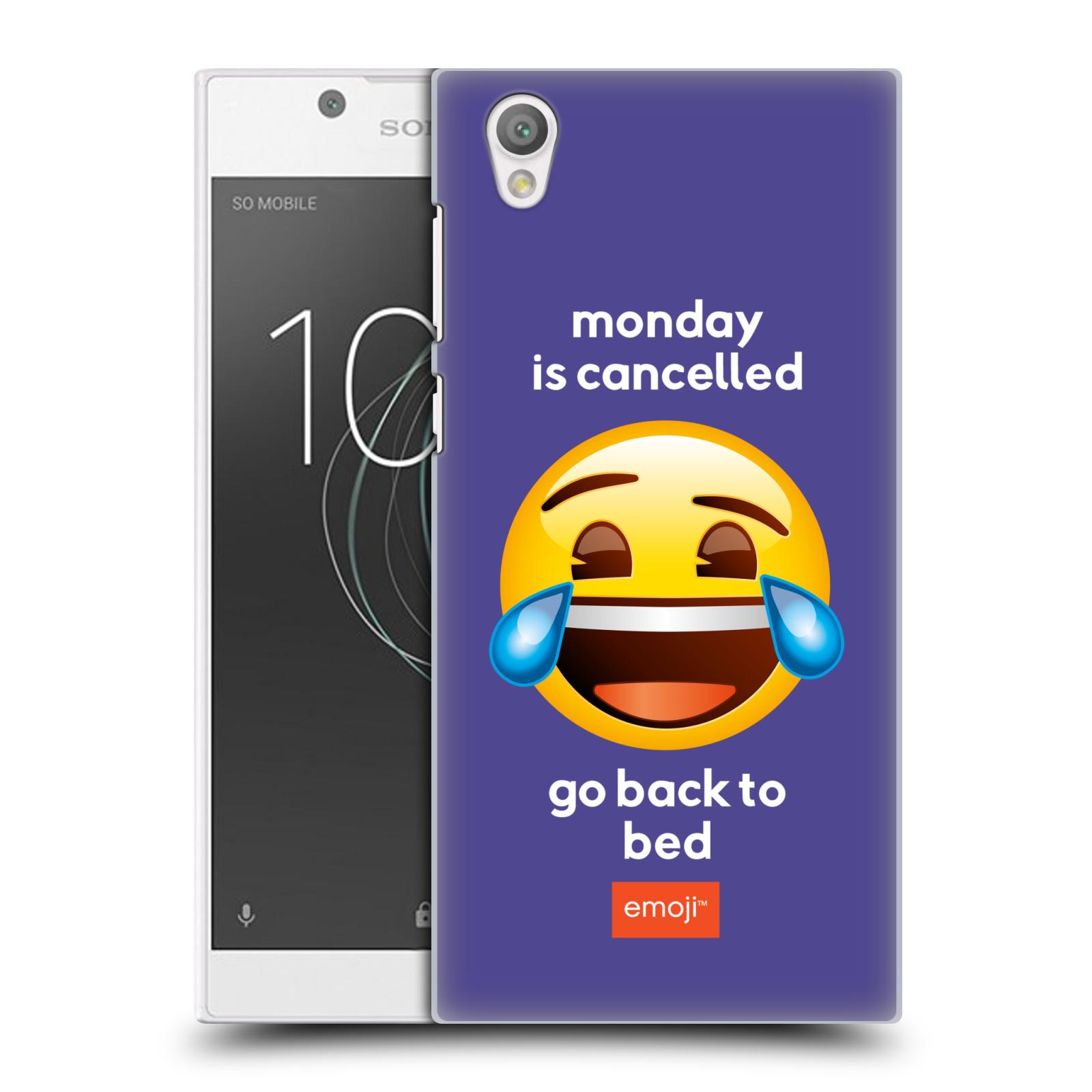Pouzdro na mobil Sony Xperia L1 - HEAD CASE - Emoji smějící se smajlík pondělí