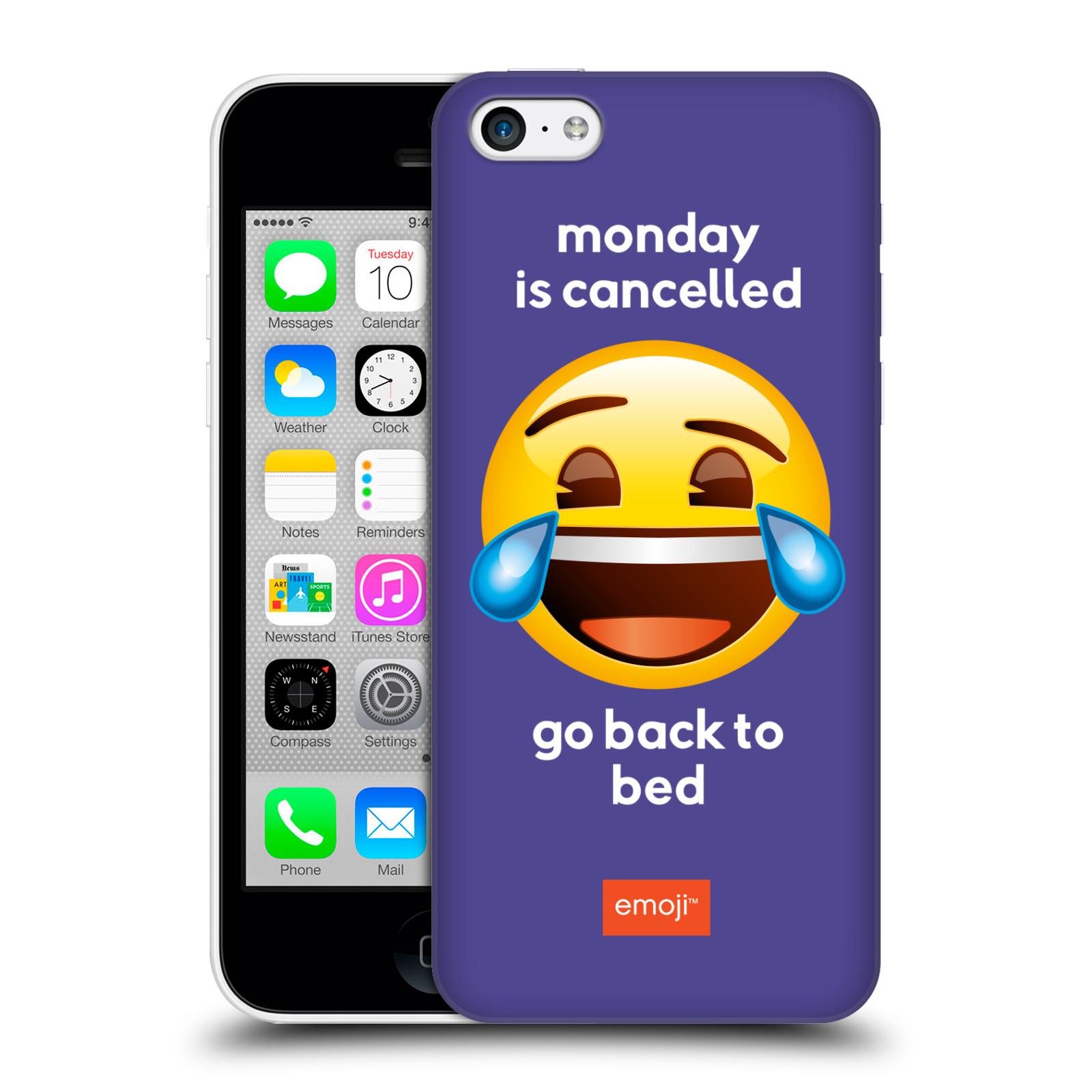 Pouzdro na mobil Apple Iphone 5C - HEAD CASE - Emoji smějící se smajlík pondělí