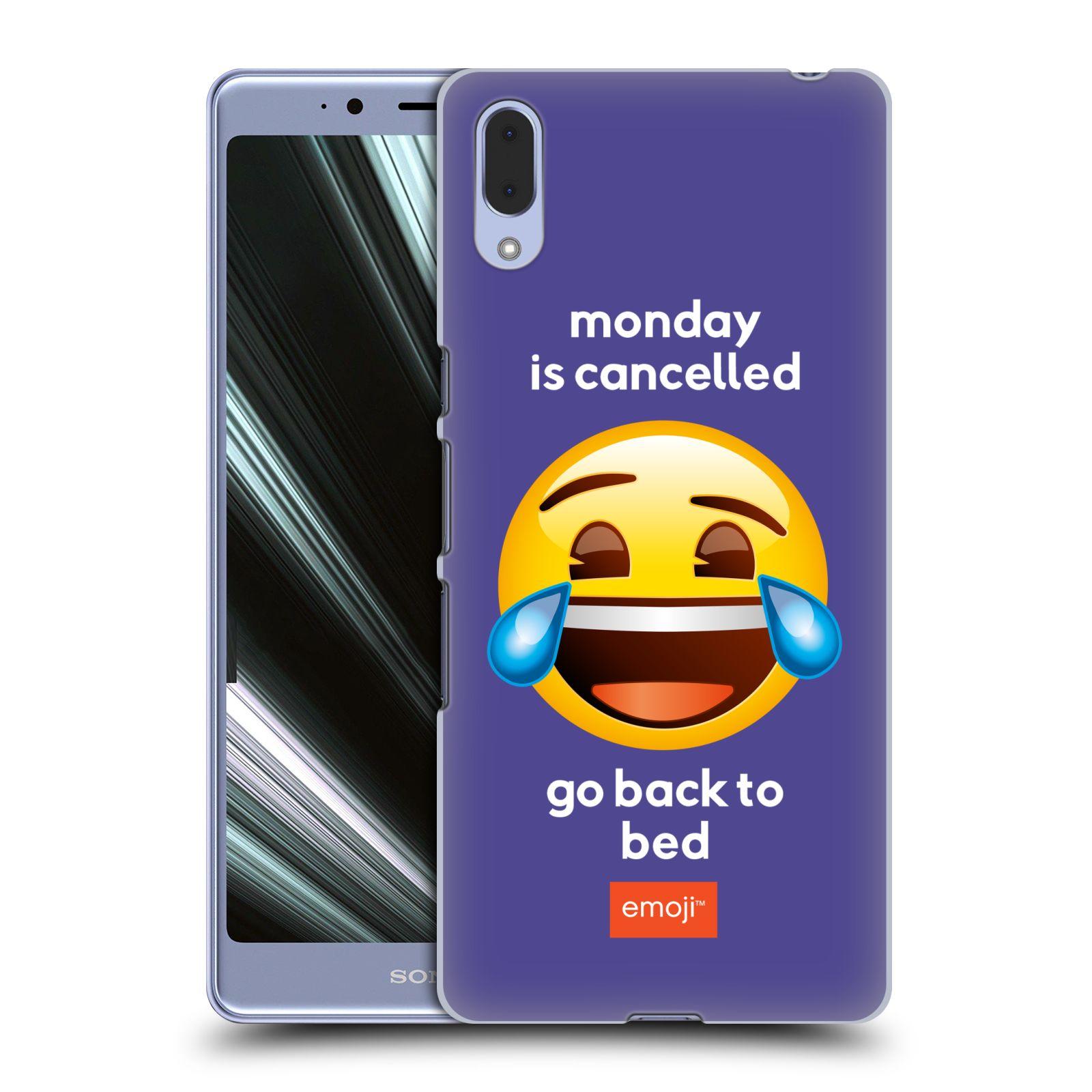 Pouzdro na mobil Sony Xperia L3 - HEAD CASE - Emoji smějící se smajlík pondělí