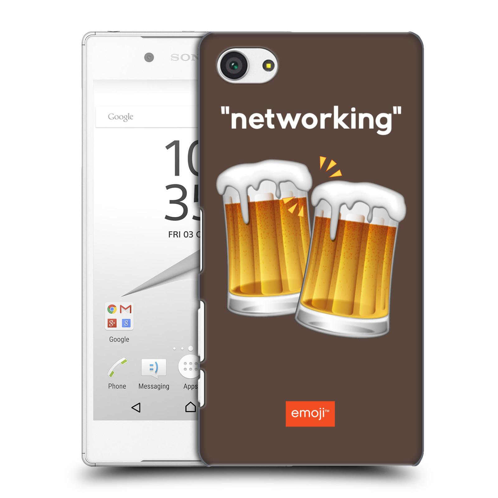 Pouzdro na mobil Sony Xperia Z5 COMPACT - HEAD CASE - Emoji smajlíci jdeme na pivo