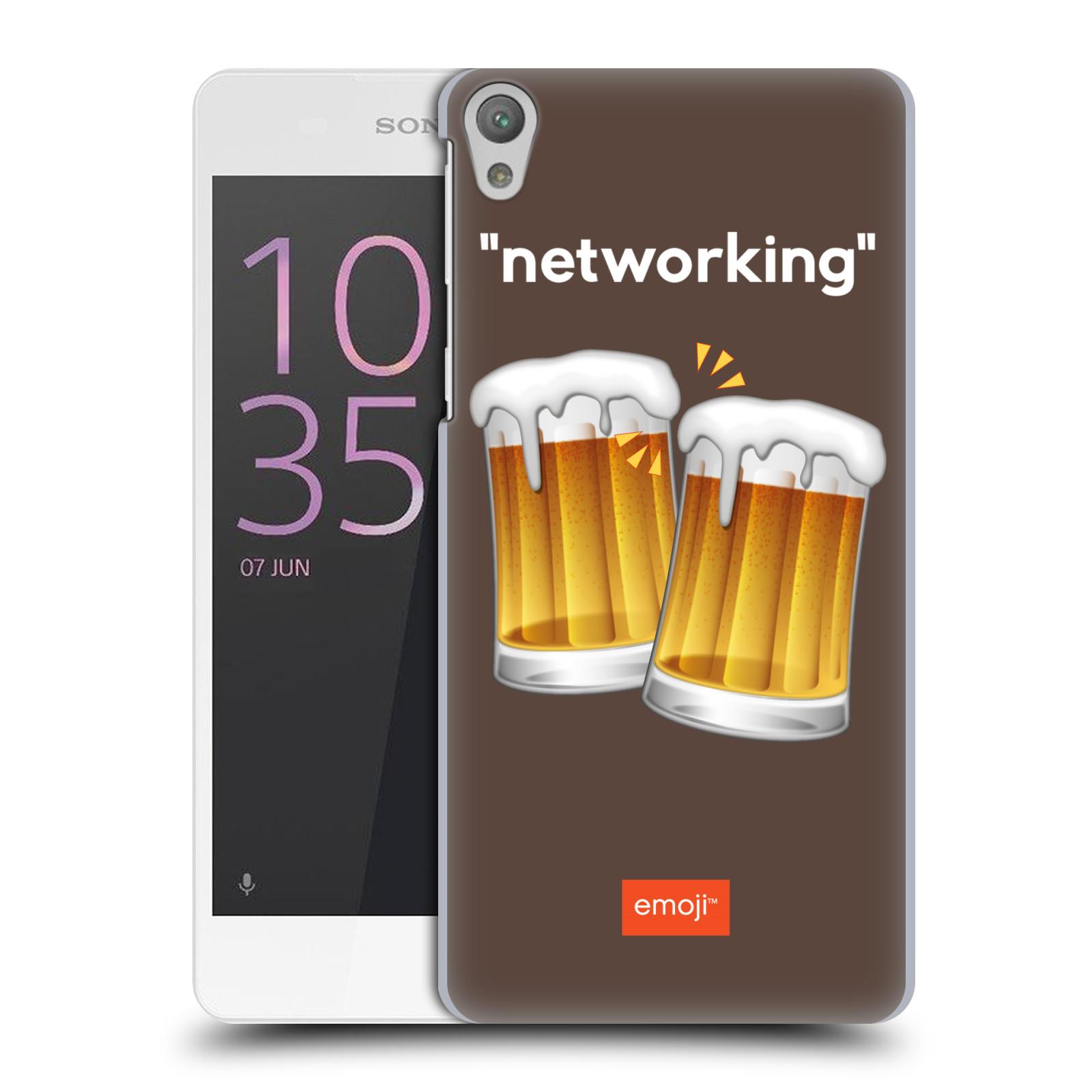 Pouzdro na mobil Sony Xperia E5 - HEAD CASE - Emoji smajlíci jdeme na pivo
