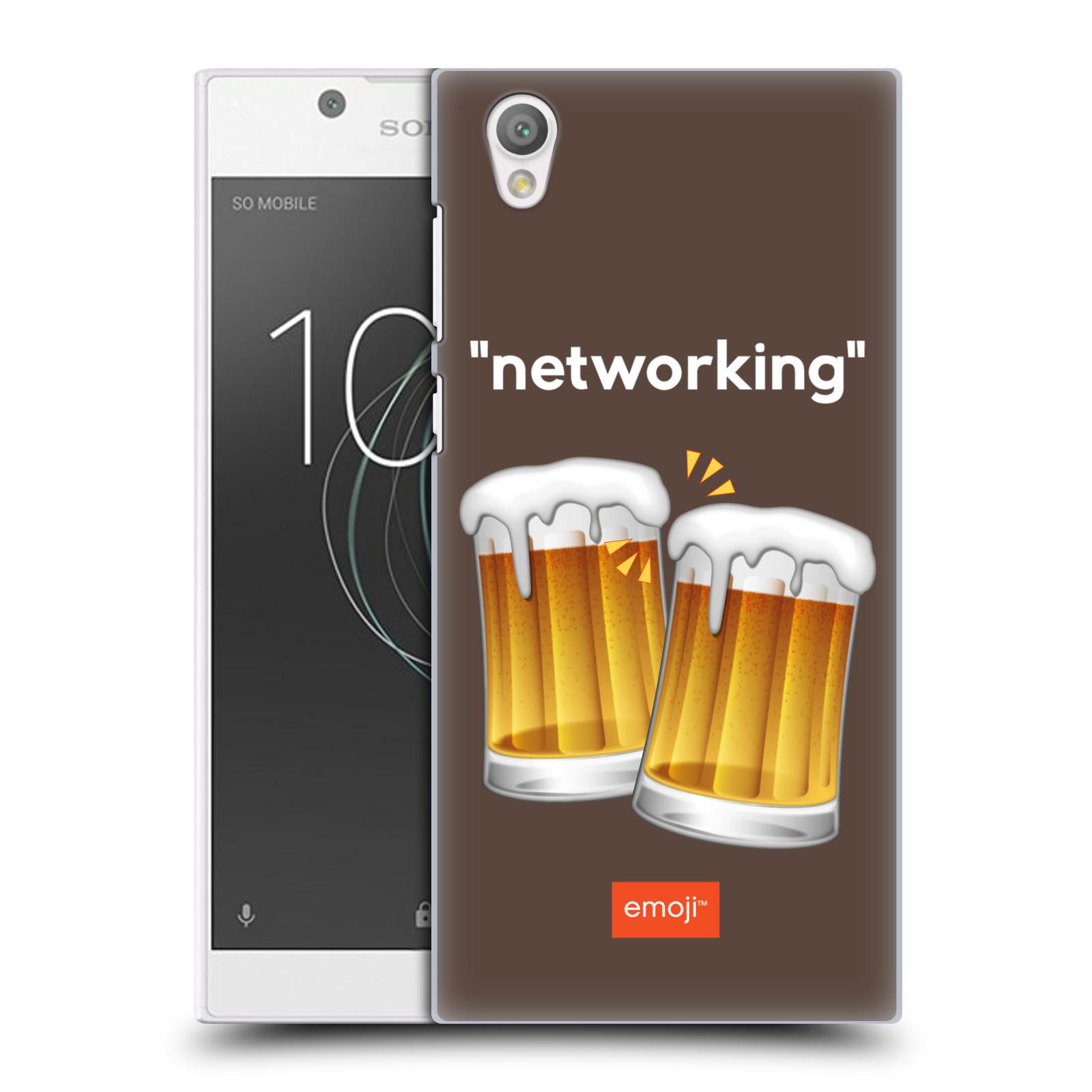 Pouzdro na mobil Sony Xperia L1 - HEAD CASE - Emoji smajlíci jdeme na pivo