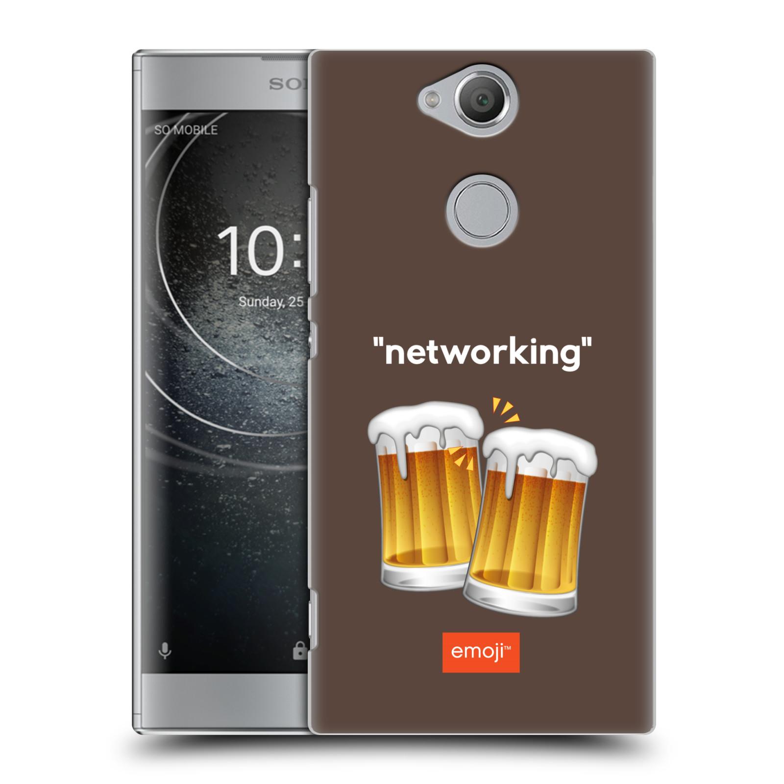 Pouzdro na mobil Sony Xperia XA2 - HEAD CASE - Emoji smajlíci jdeme na pivo