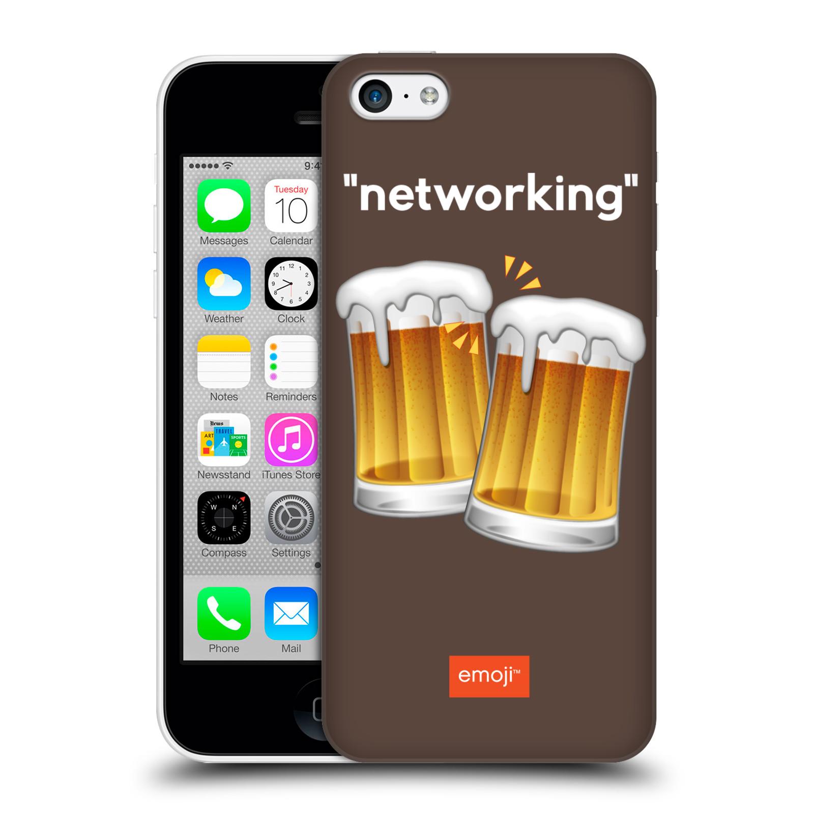 Pouzdro na mobil Apple Iphone 5C - HEAD CASE - Emoji smajlíci jdeme na pivo