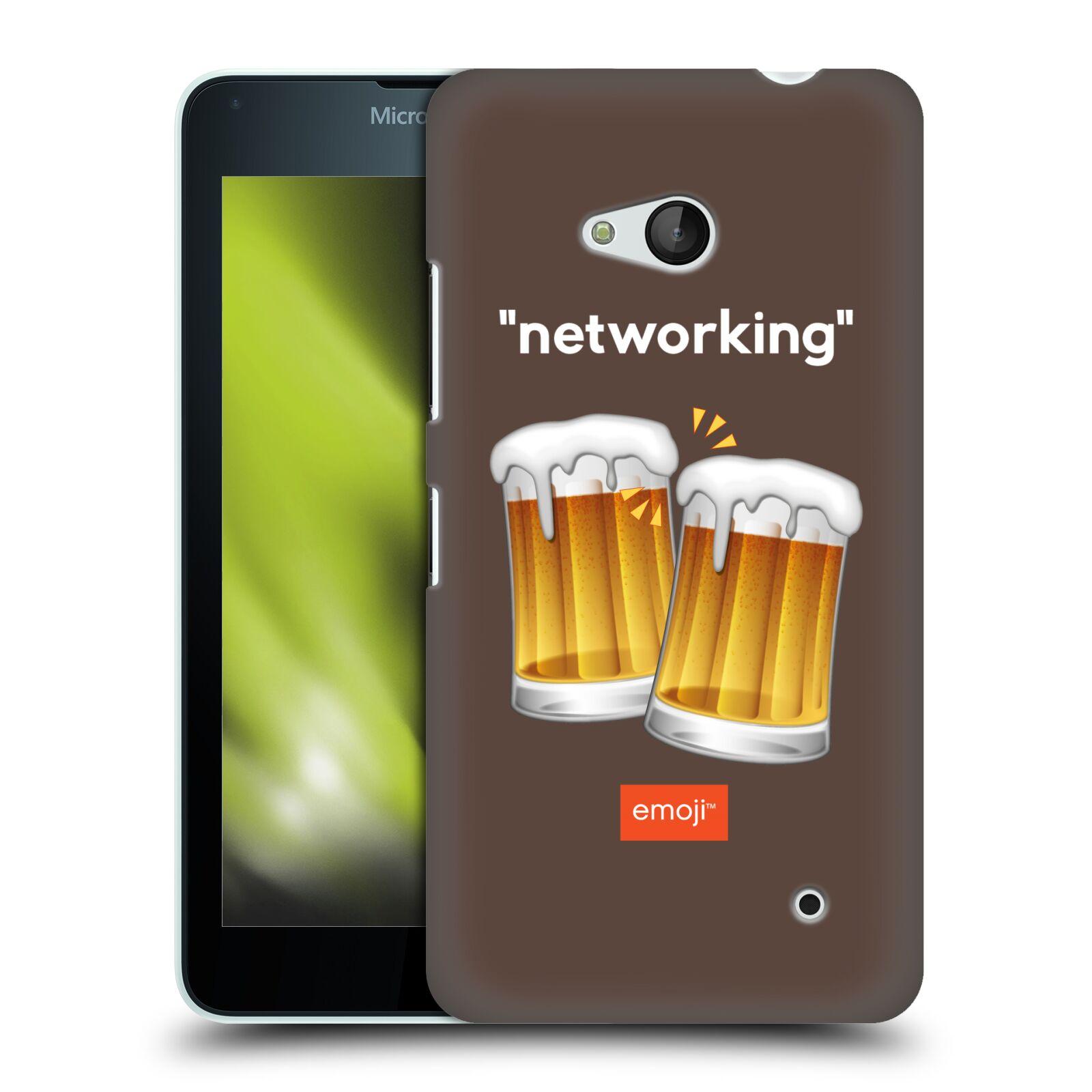 Pouzdro na mobil Microsoft Lumia 640 / 640 DUAL SIM - HEAD CASE - Emoji smajlíci jdeme na pivo