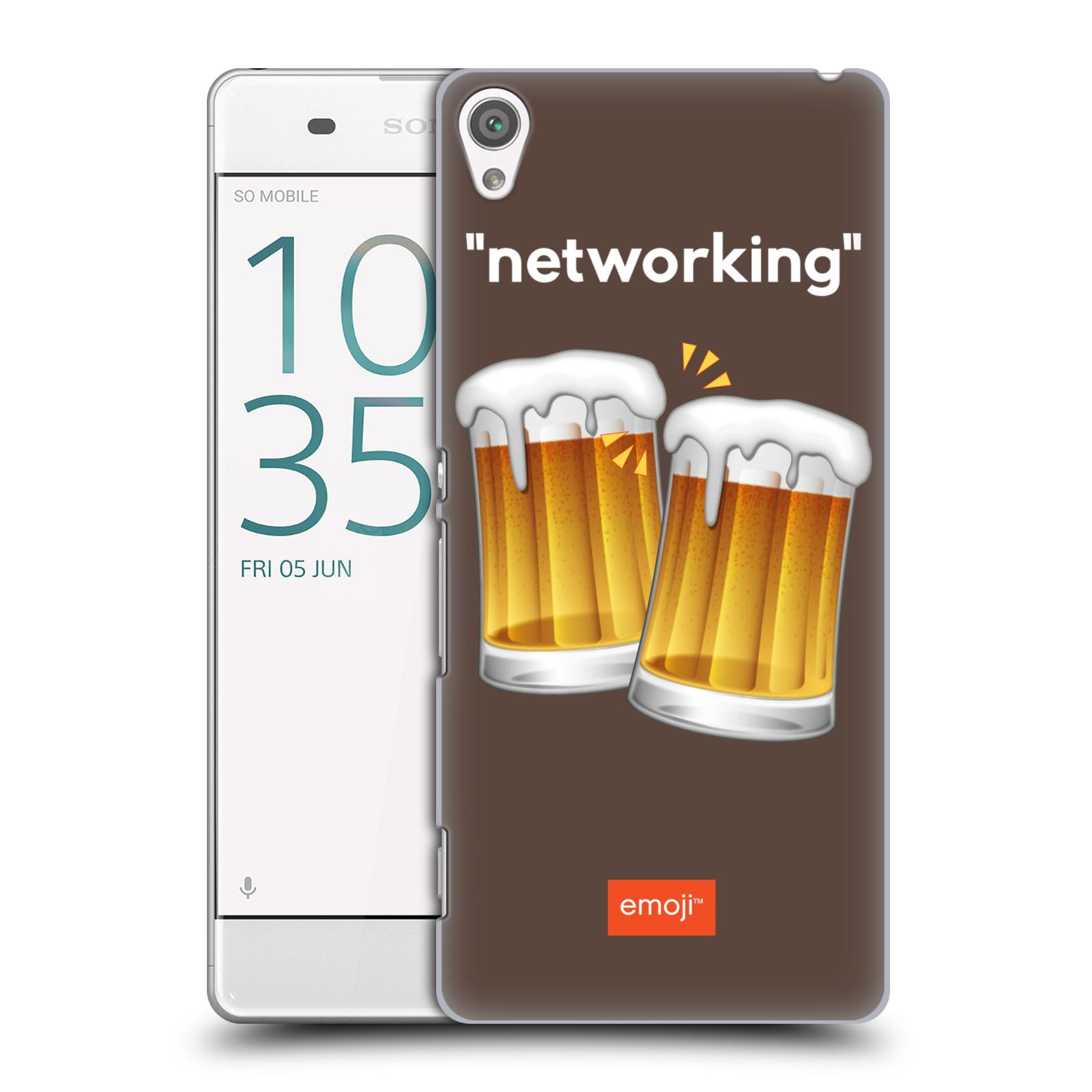Pouzdro na mobil Sony Xperia XA - HEAD CASE - Emoji smajlíci jdeme na pivo