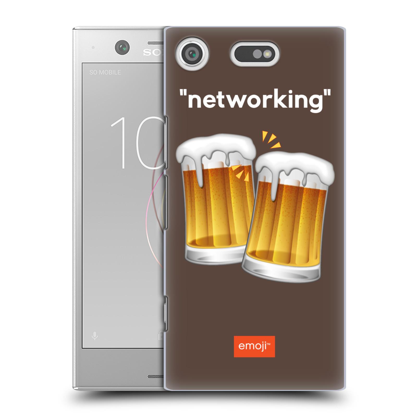 Pouzdro na mobil Sony Xperia XZ1 COMPACT - HEAD CASE - Emoji smajlíci jdeme na pivo