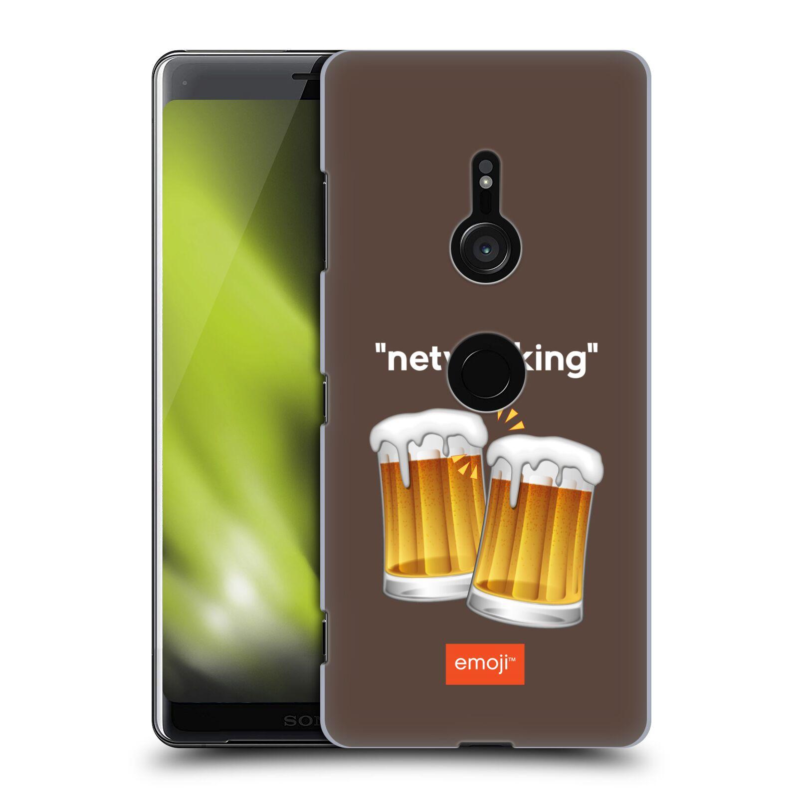 Pouzdro na mobil Sony Xperia XZ3 - HEAD CASE - Emoji smajlíci jdeme na pivo