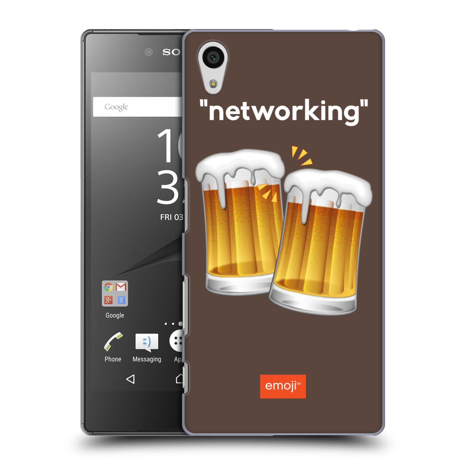 Pouzdro na mobil Sony Xperia Z5 - HEAD CASE - Emoji smajlíci jdeme na pivo