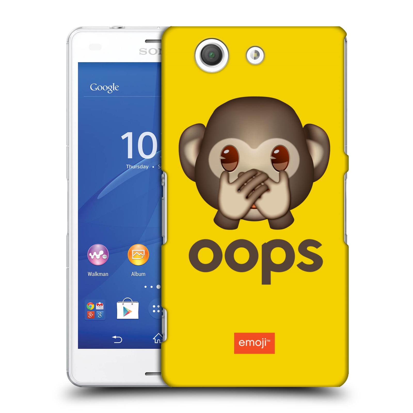 Pouzdro na mobil Sony Xperia Z3 COMPACT - HEAD CASE - Emoji opička Oops
