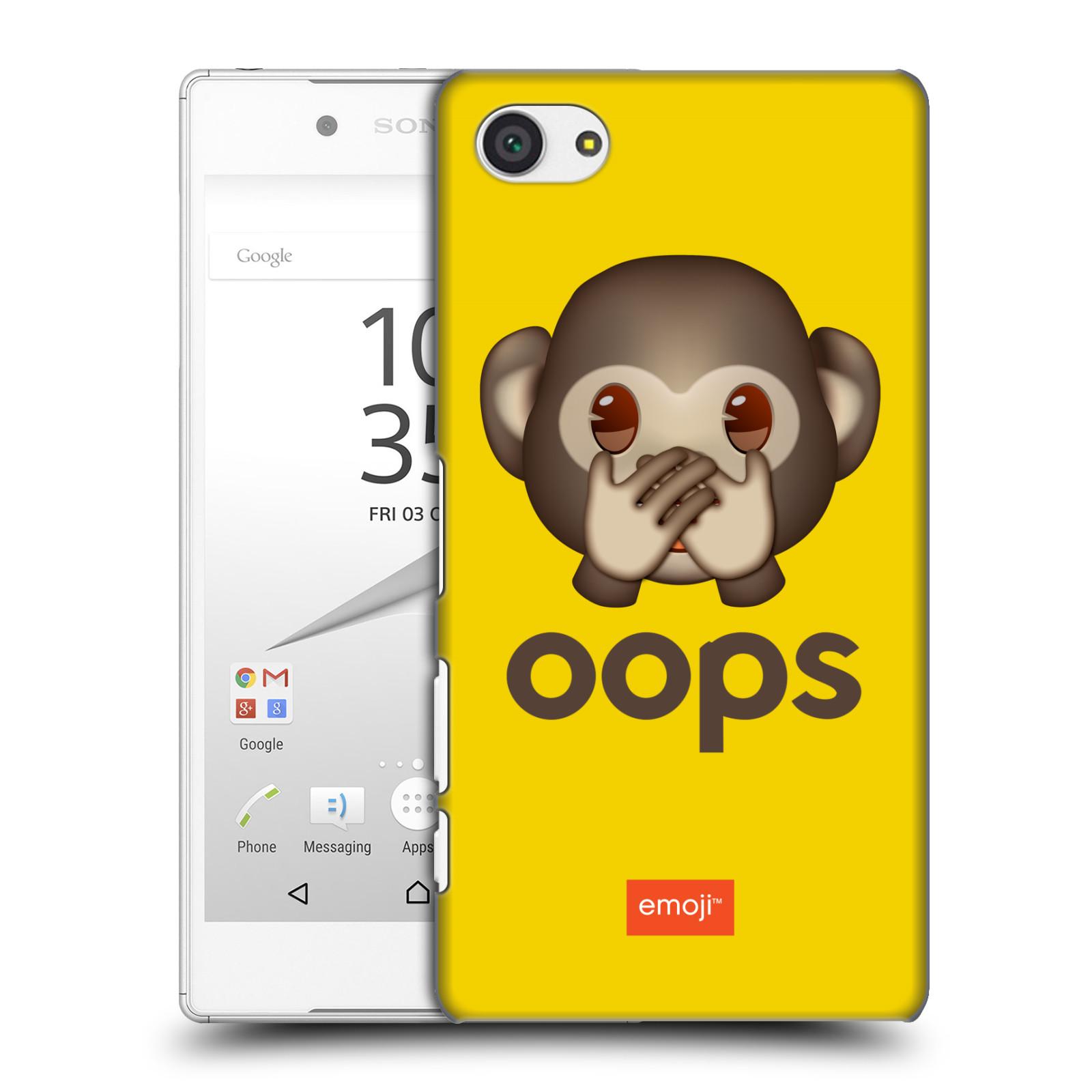 Pouzdro na mobil Sony Xperia Z5 COMPACT - HEAD CASE - Emoji opička Oops