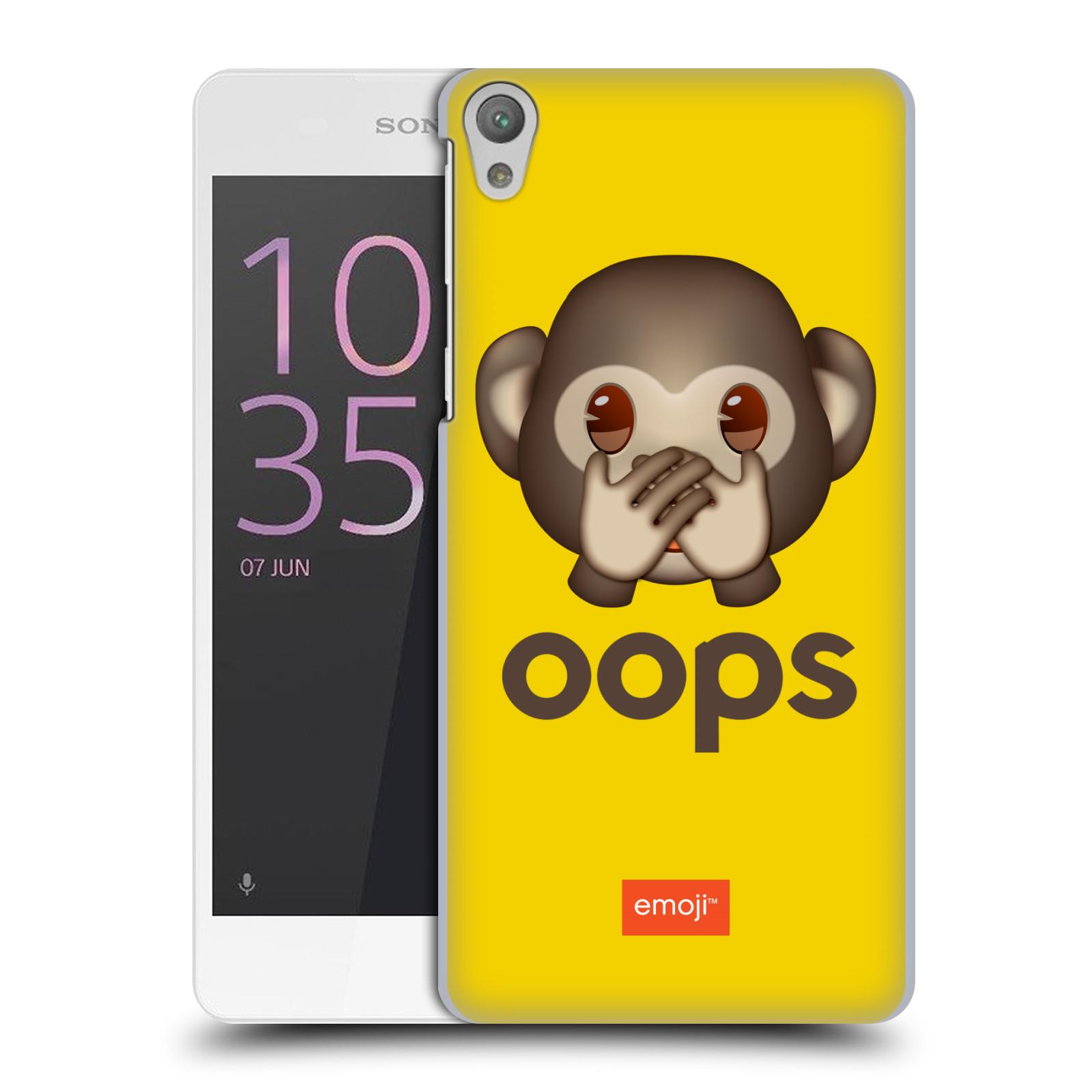 Pouzdro na mobil Sony Xperia E5 - HEAD CASE - Emoji opička Oops