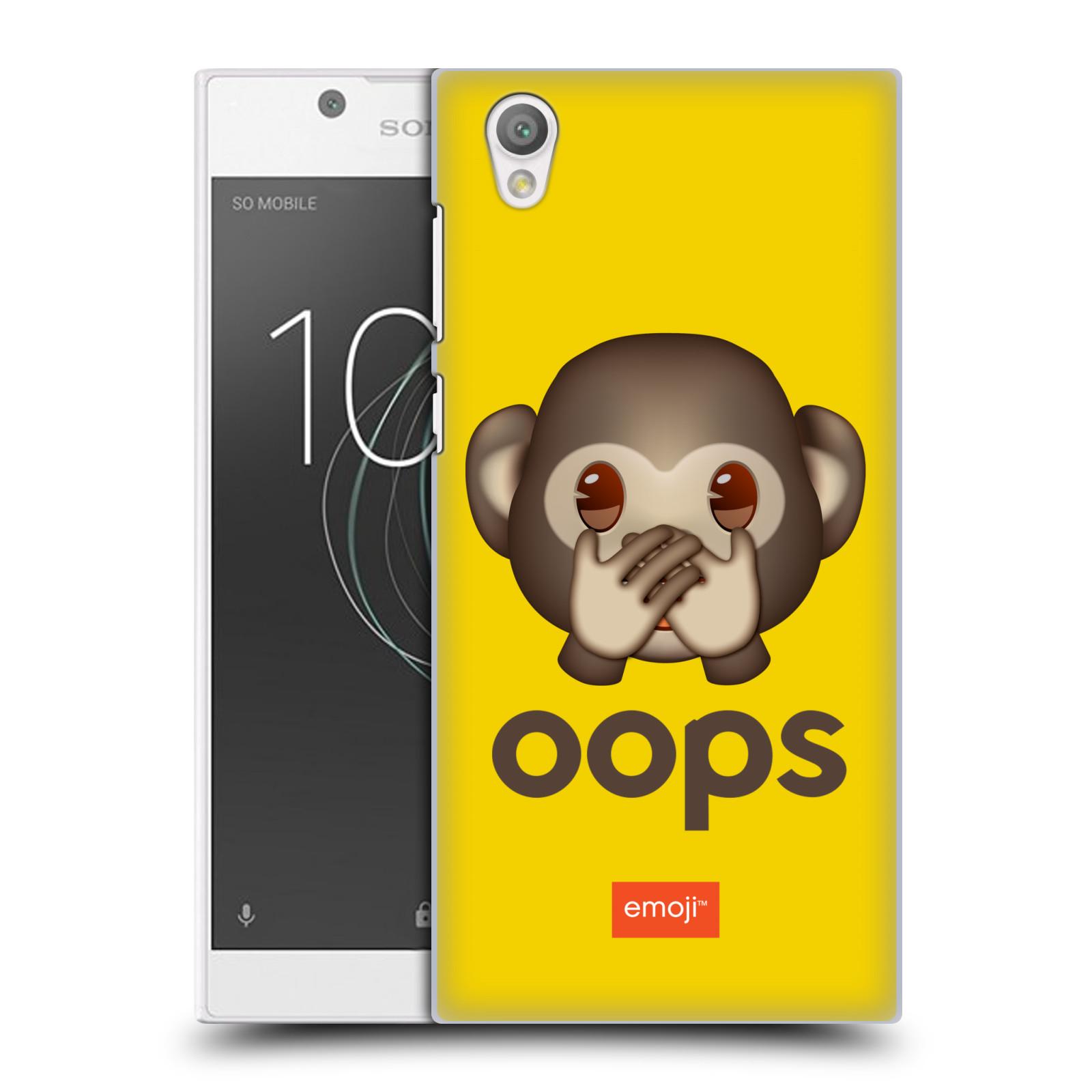 Pouzdro na mobil Sony Xperia L1 - HEAD CASE - Emoji opička Oops