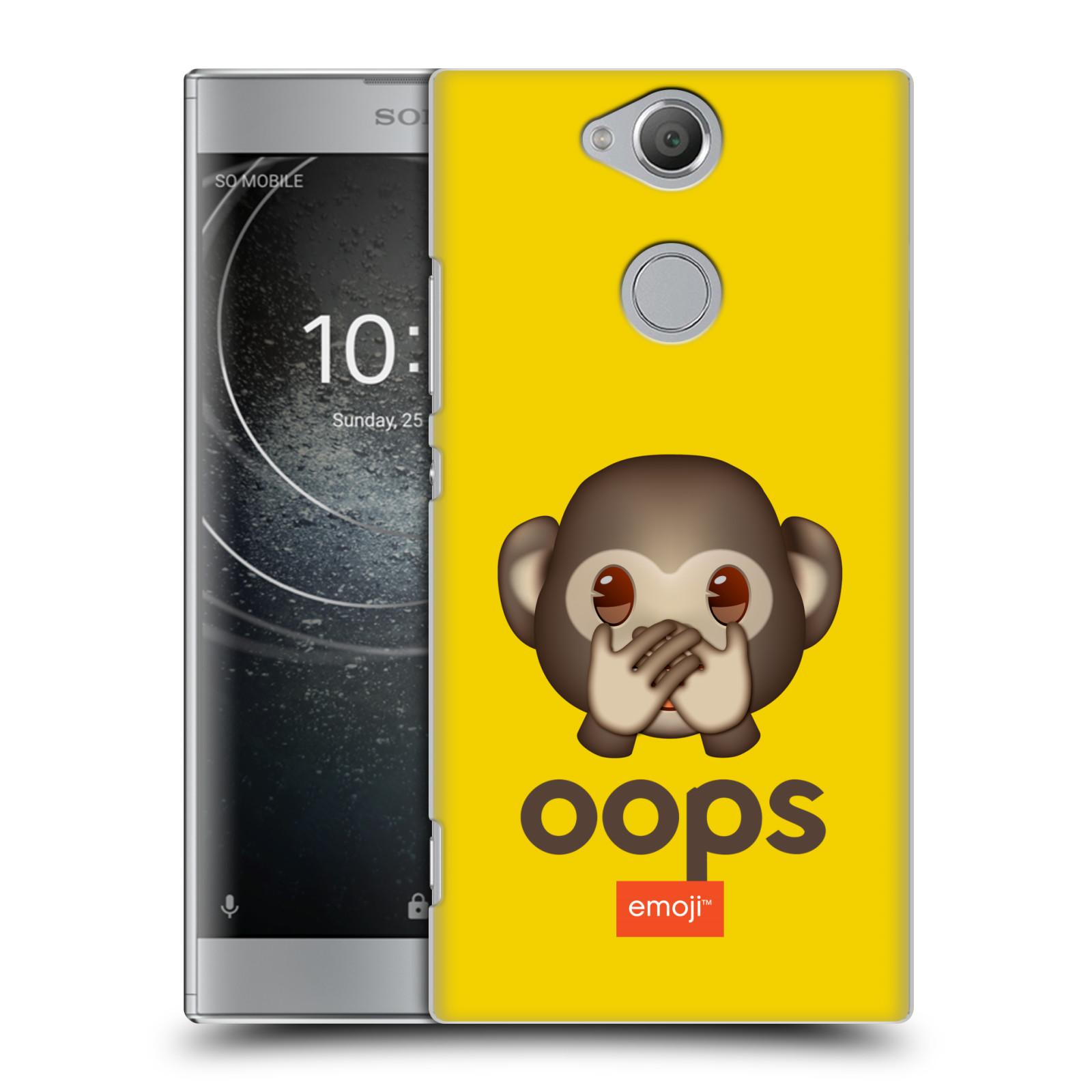 Pouzdro na mobil Sony Xperia XA2 - HEAD CASE - Emoji opička Oops