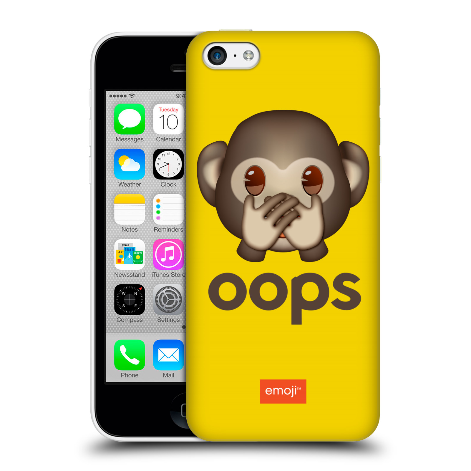 Pouzdro na mobil Apple Iphone 5C - HEAD CASE - Emoji opička Oops