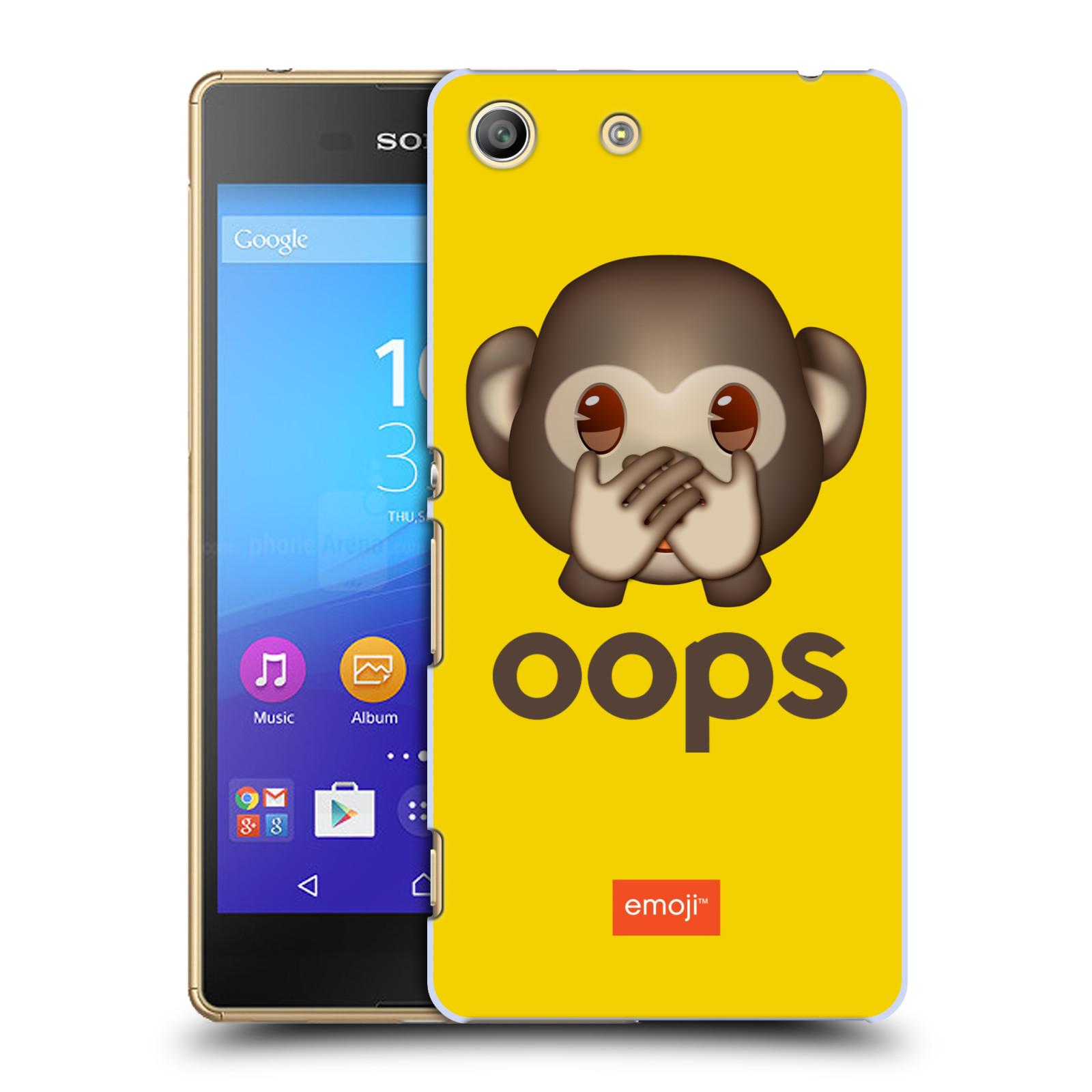 Pouzdro na mobil Sony Xperia M5 - HEAD CASE - Emoji opička Oops