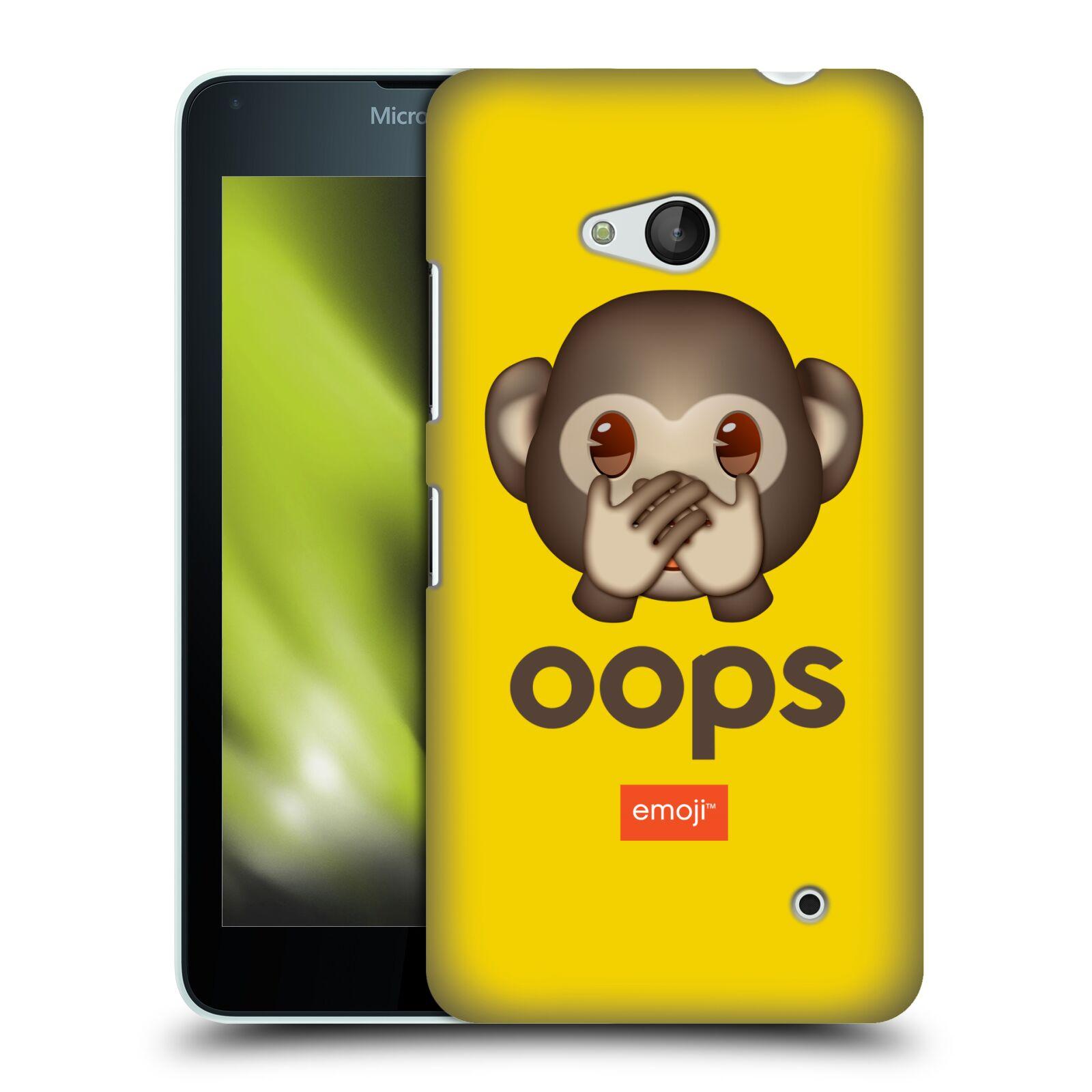 Pouzdro na mobil Microsoft Lumia 640 / 640 DUAL SIM - HEAD CASE - Emoji opička Oops