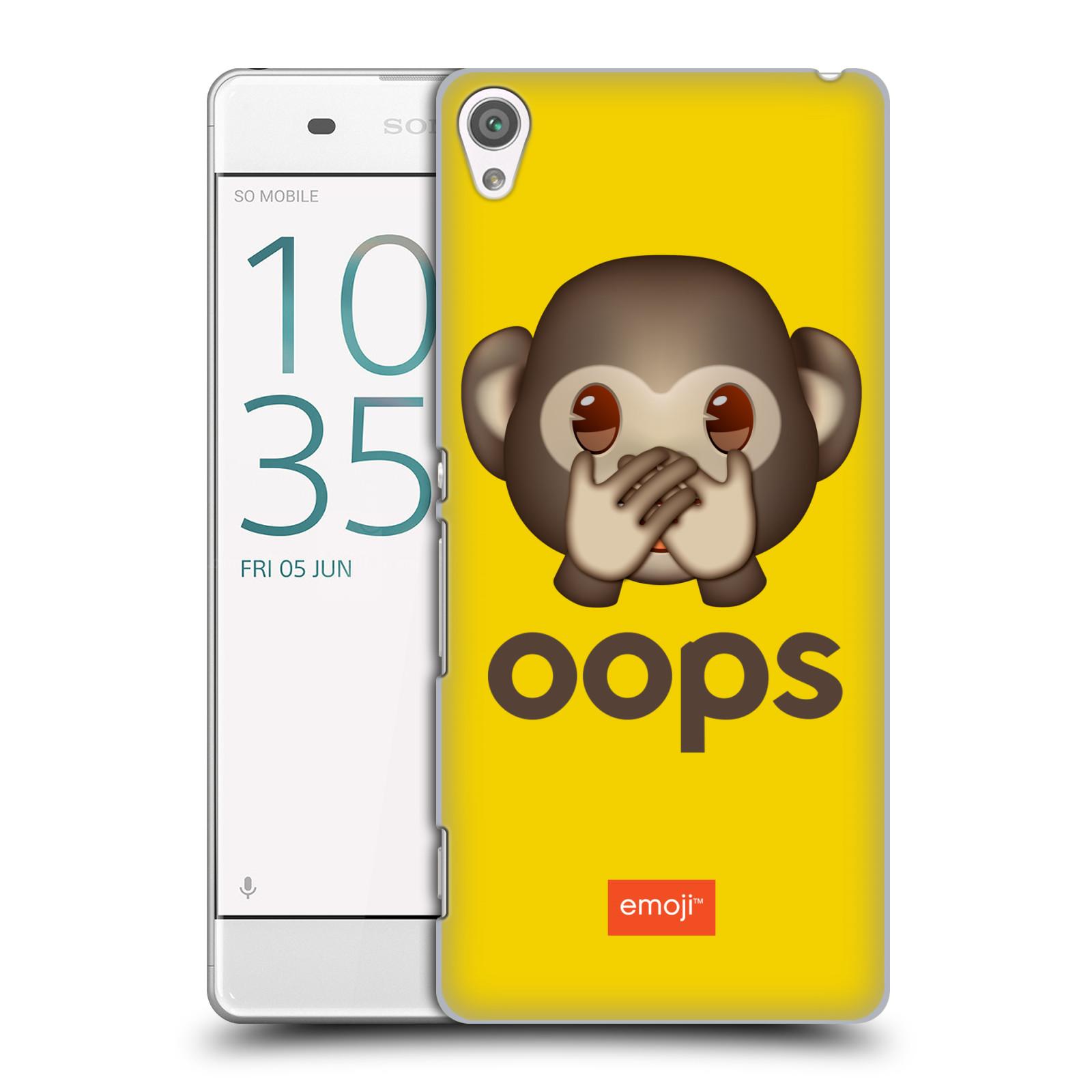 Pouzdro na mobil Sony Xperia XA - HEAD CASE - Emoji opička Oops