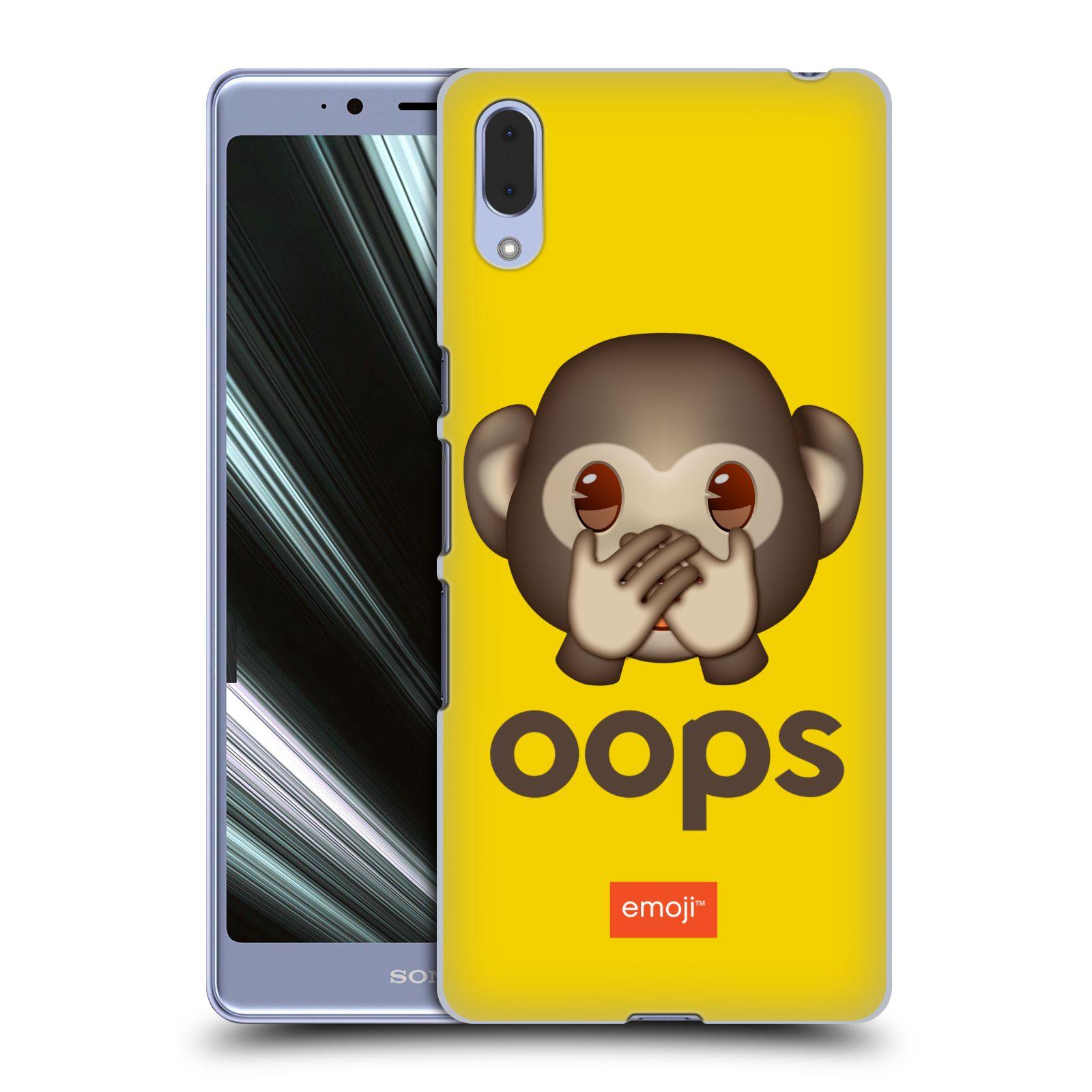 Pouzdro na mobil Sony Xperia L3 - HEAD CASE - Emoji opička Oops