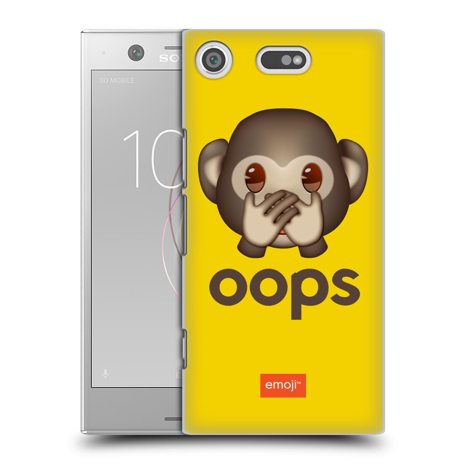 Pouzdro na mobil Sony Xperia XZ1 COMPACT - HEAD CASE - Emoji opička Oops