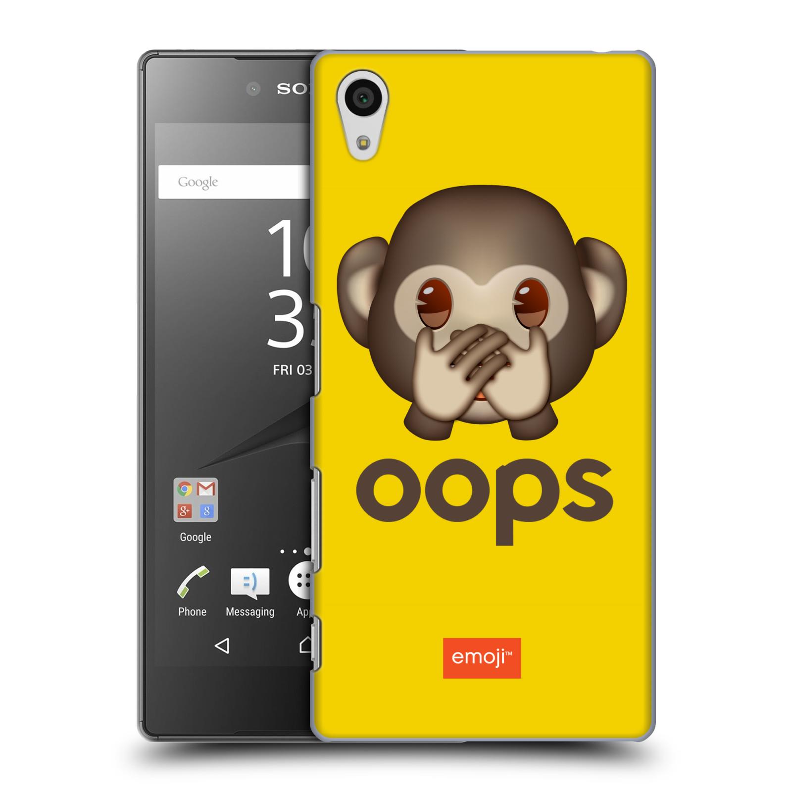 Pouzdro na mobil Sony Xperia Z5 - HEAD CASE - Emoji opička Oops