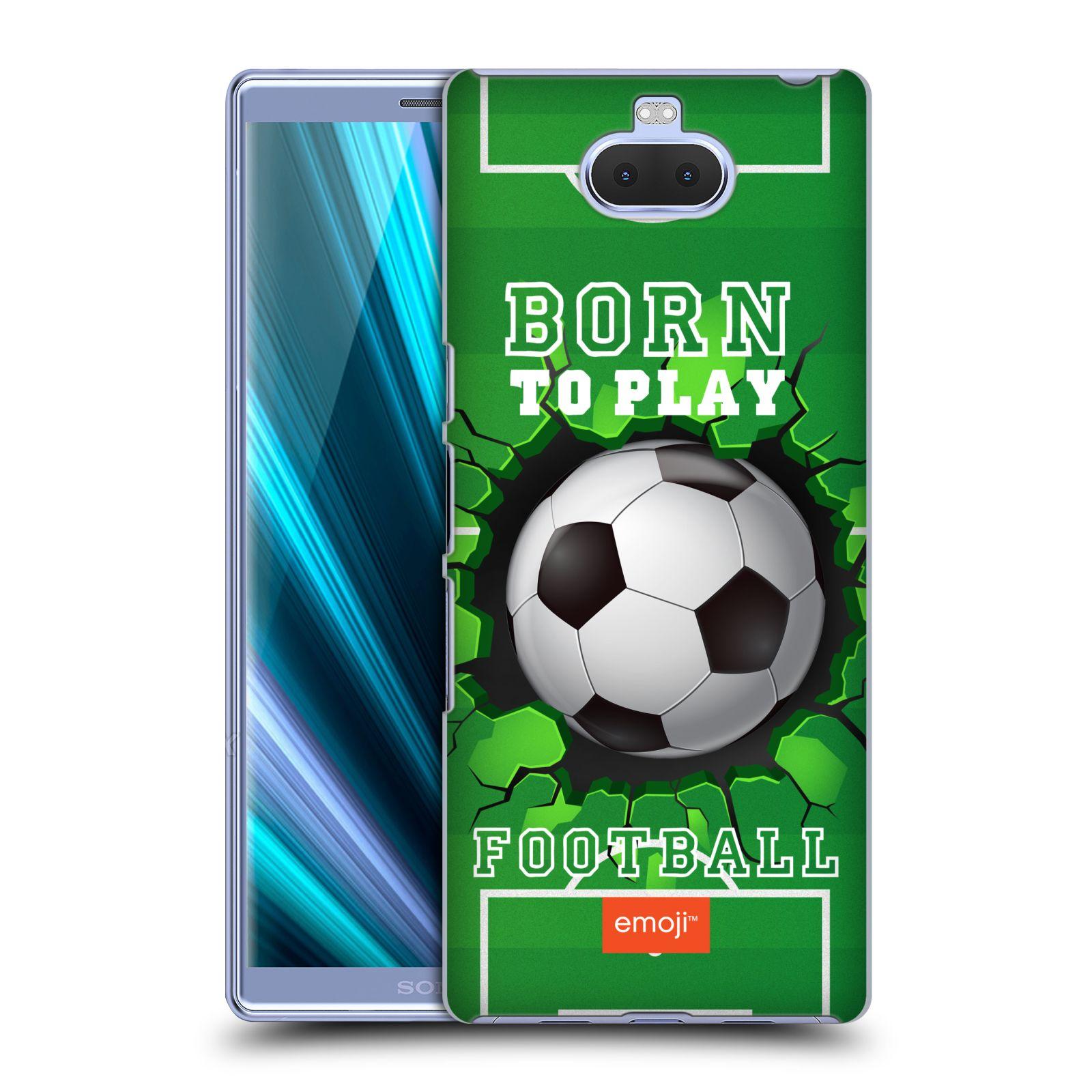 Pouzdro na mobil Sony Xperia 10 Plus - Head Case - smajlíci oficiální kryt EMOJI vzor fotbal ZROZEN KE HŘE