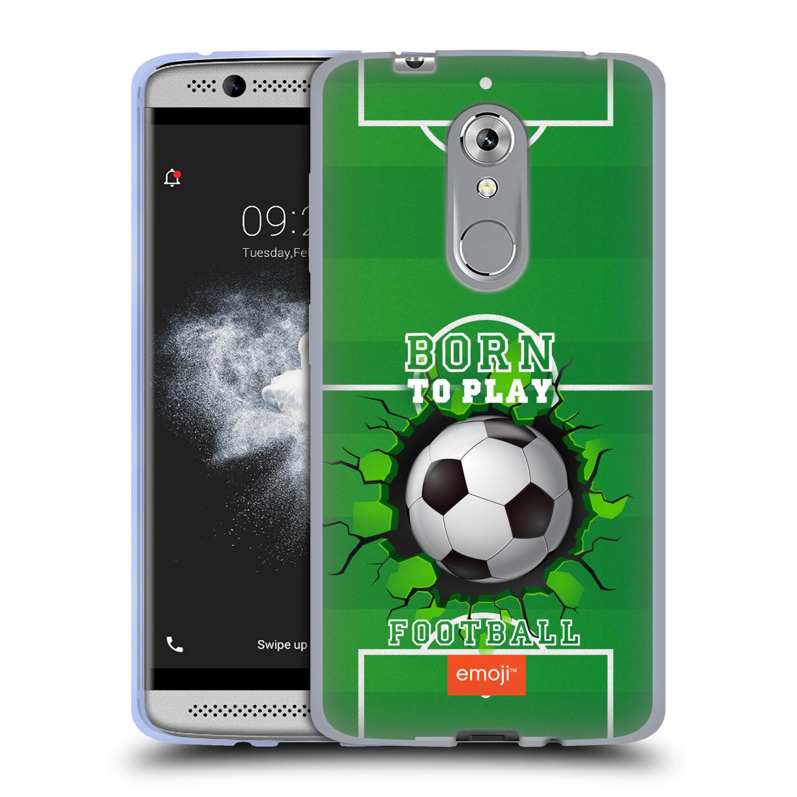 HEAD CASE silikonový obal na mobil ZTE Axon 7 MINI smajlíci oficiální kryt EMOJI vzor fotbal ZROZEN KE HŘE
