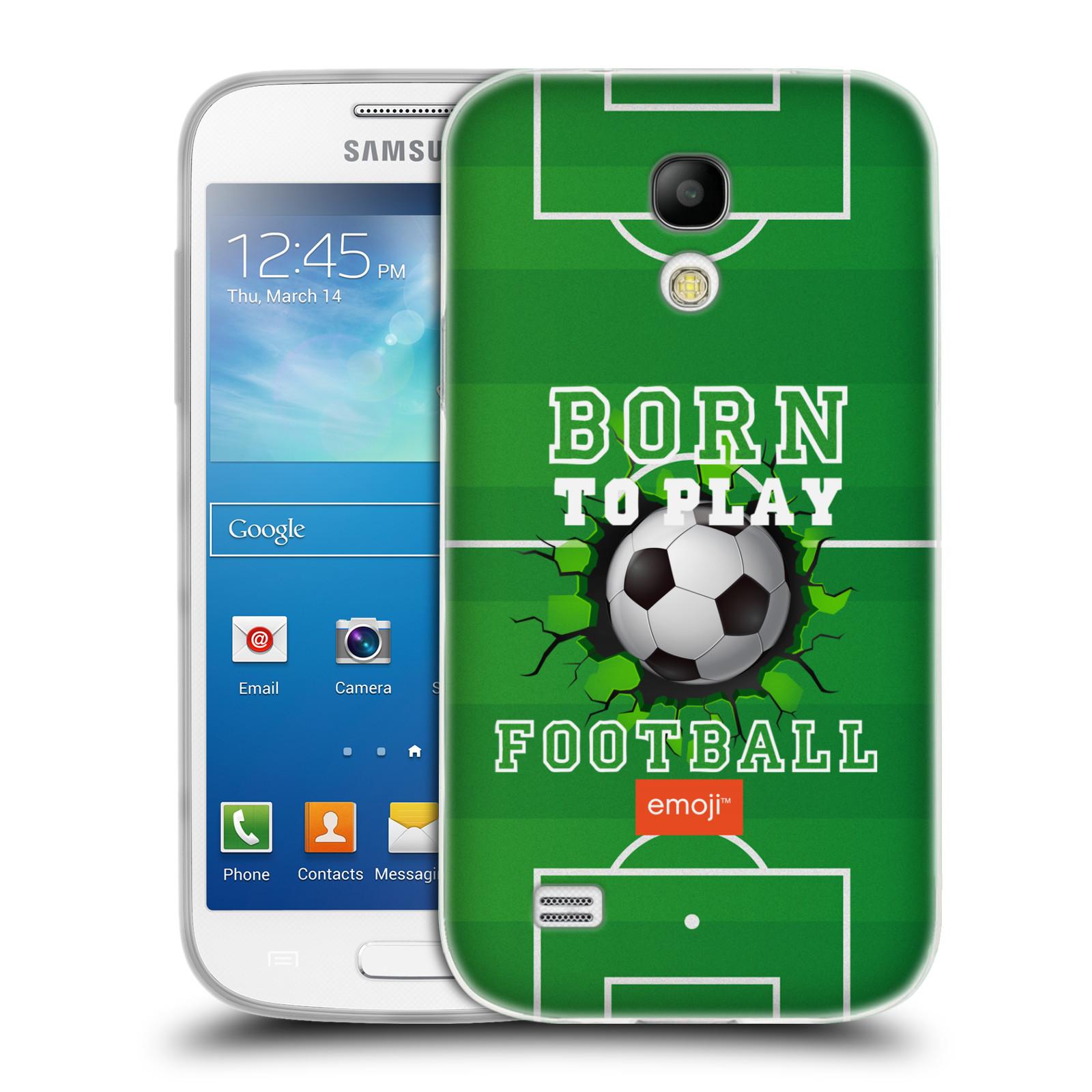 HEAD CASE silikonový obal na mobil Samsung Galaxy S4 MINI smajlíci oficiální kryt EMOJI vzor fotbal ZROZEN KE HŘE