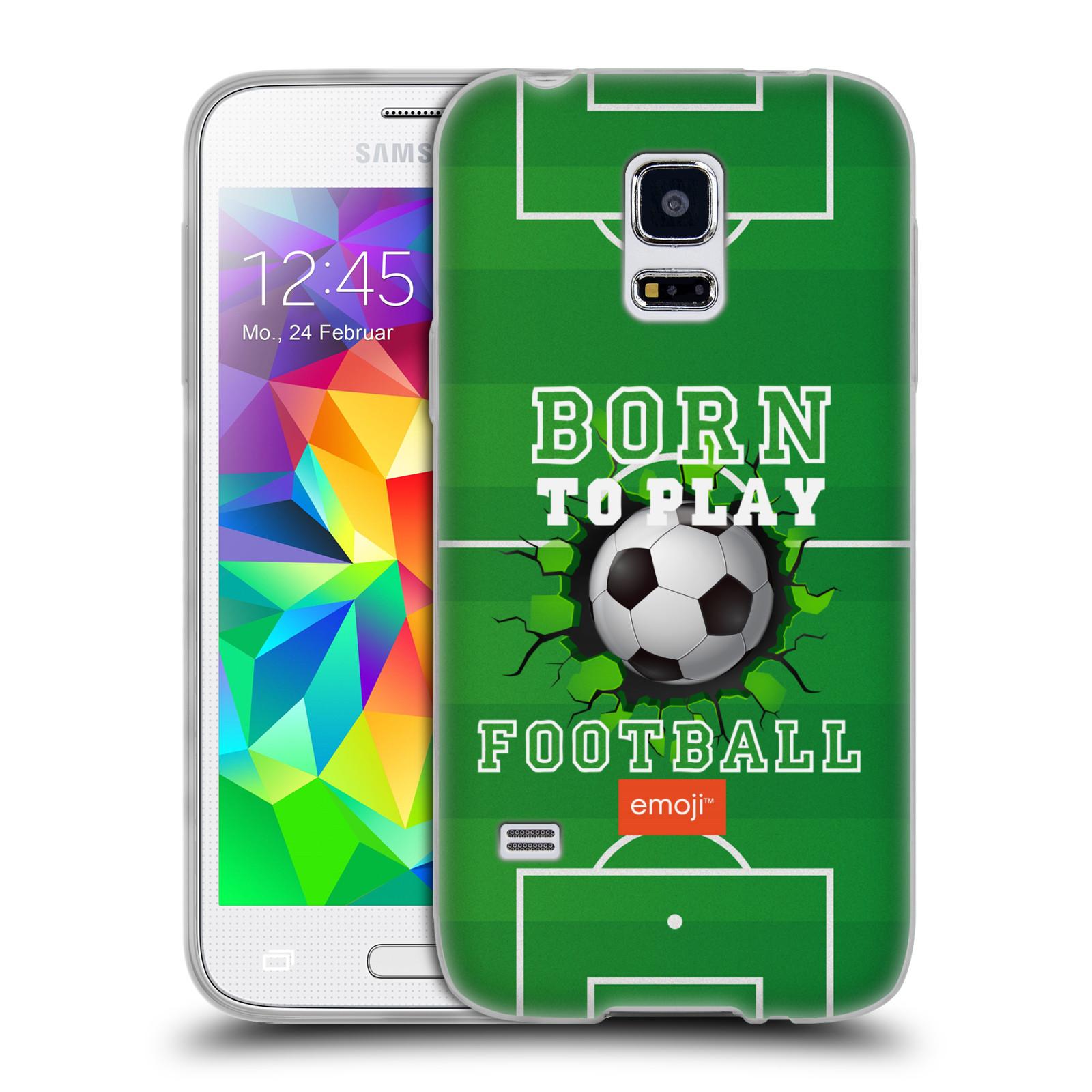 HEAD CASE silikonový obal na mobil Samsung Galaxy S5 MINI smajlíci oficiální kryt EMOJI vzor fotbal ZROZEN KE HŘE