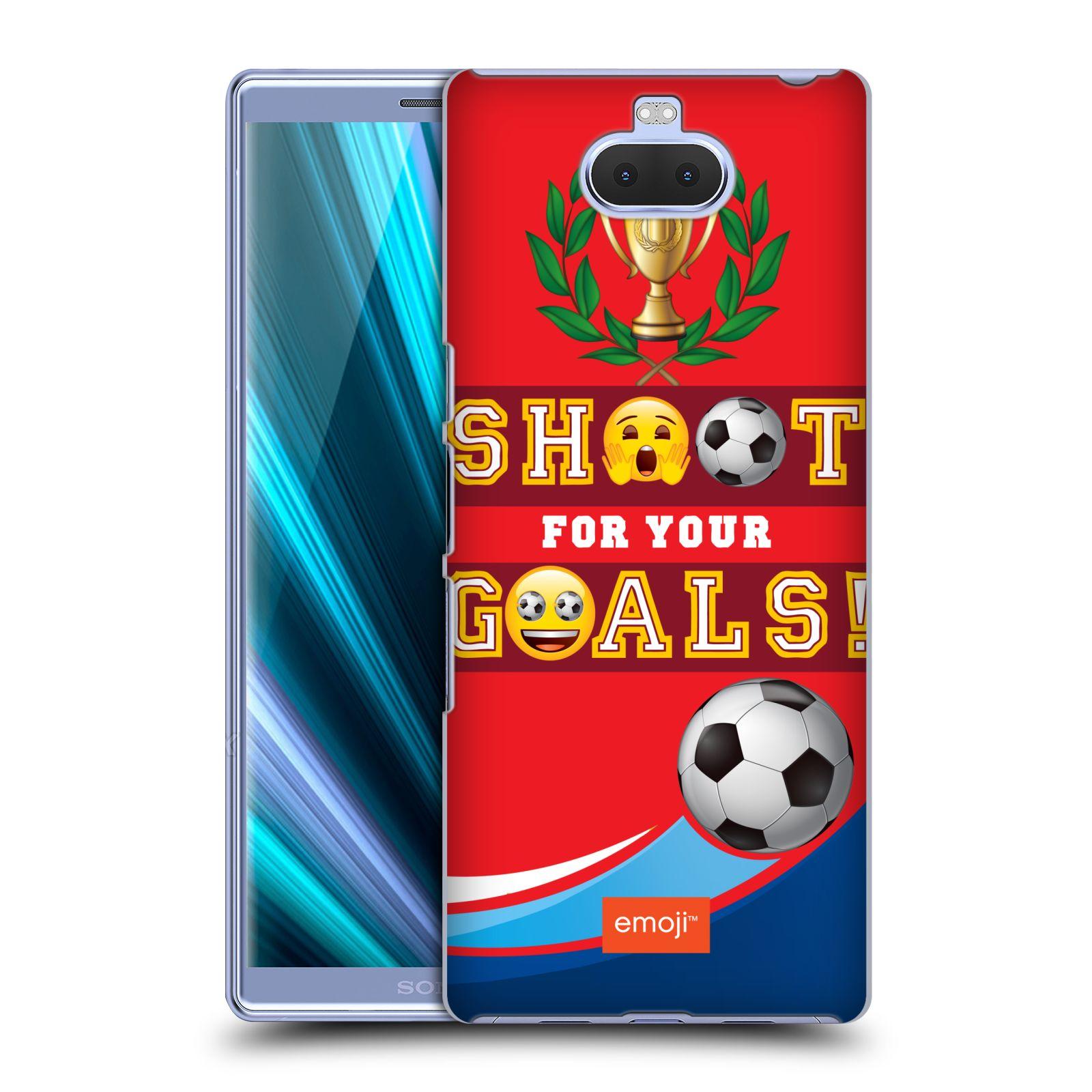 Pouzdro na mobil Sony Xperia 10 Plus - Head Case - smajlíci oficiální kryt EMOJI vzor fotbal střela a gól