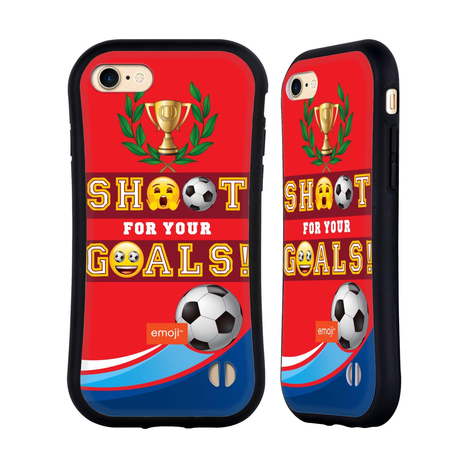 HEAD CASE odolný obal na mobil Apple Iphone 8 smajlíci oficiální kryt EMOJI vzor fotbal střela a gól