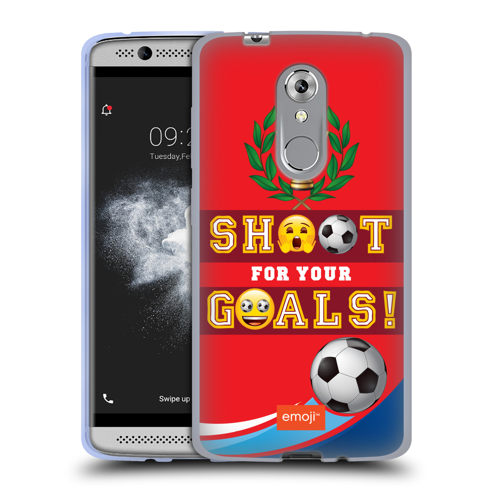 HEAD CASE silikonový obal na mobil ZTE Axon 7 MINI smajlíci oficiální kryt EMOJI vzor fotbal střela a gól