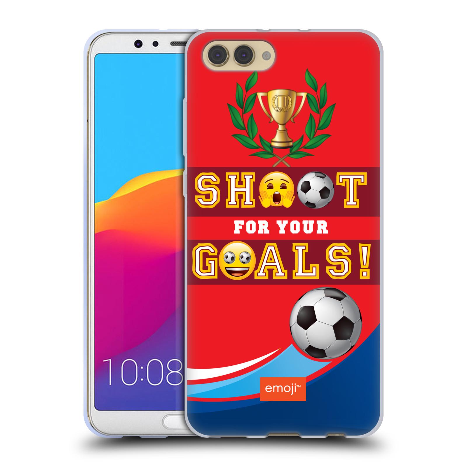 HEAD CASE silikonový obal na mobil Huawei HONOR VIEW 10 / V10 smajlíci oficiální kryt EMOJI vzor fotbal střela a gól