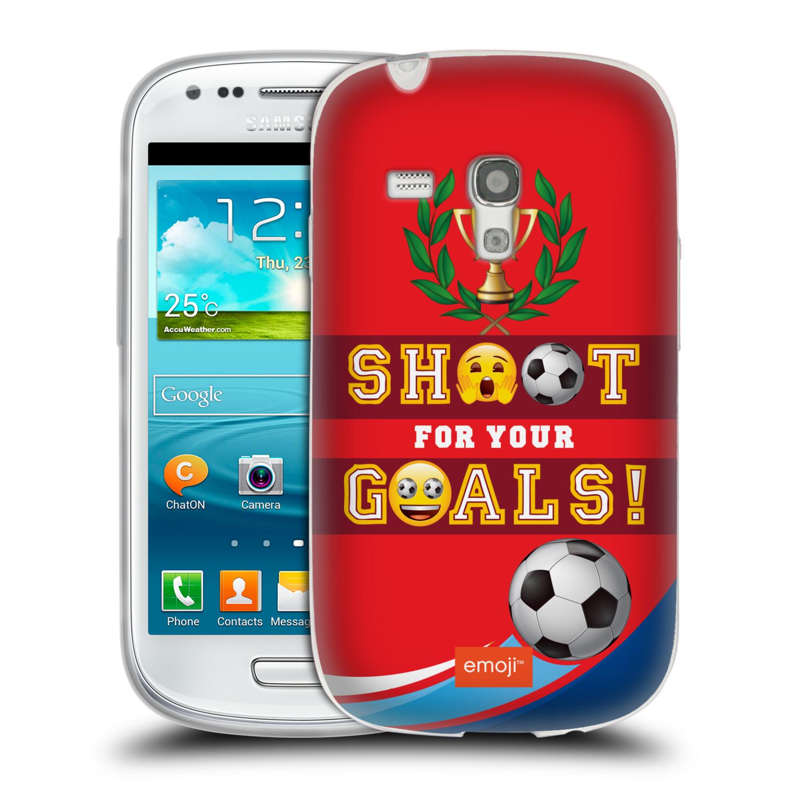 HEAD CASE silikonový obal na mobil Samsung Galaxy S3 MINI smajlíci oficiální kryt EMOJI vzor fotbal střela a gól