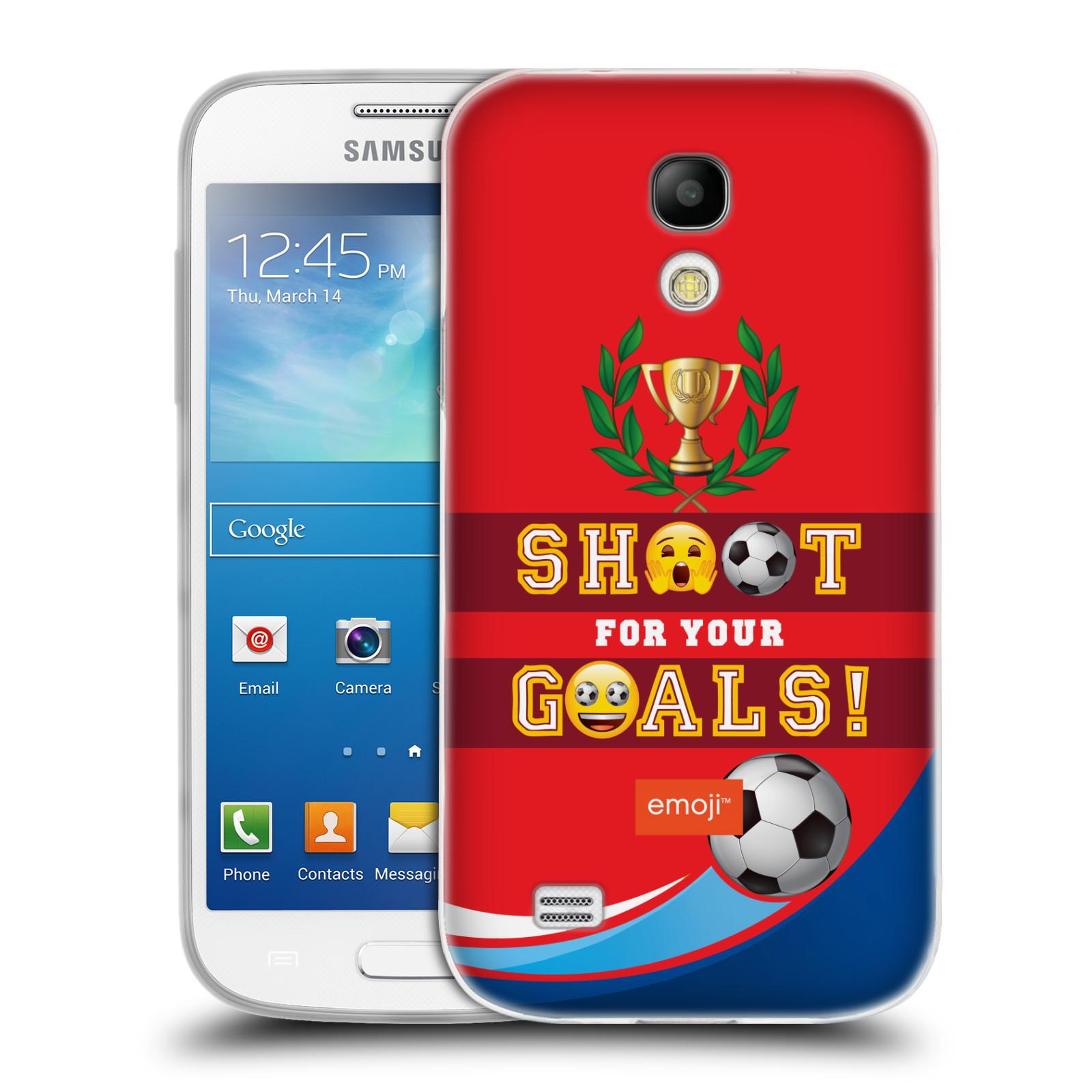 HEAD CASE silikonový obal na mobil Samsung Galaxy S4 MINI smajlíci oficiální kryt EMOJI vzor fotbal střela a gól