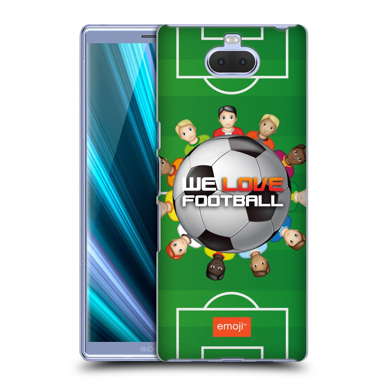 Pouzdro na mobil Sony Xperia 10 Plus - Head Case - smajlíci oficiální kryt EMOJI vzor fotbal MILUJEME FOTBAL