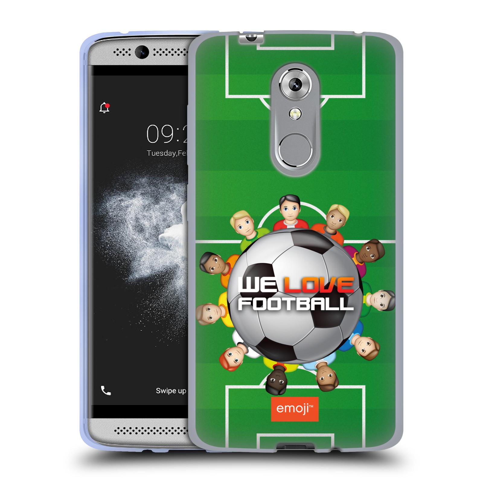 HEAD CASE silikonový obal na mobil ZTE Axon 7 MINI smajlíci oficiální kryt EMOJI vzor fotbal MILUJEME FOTBAL