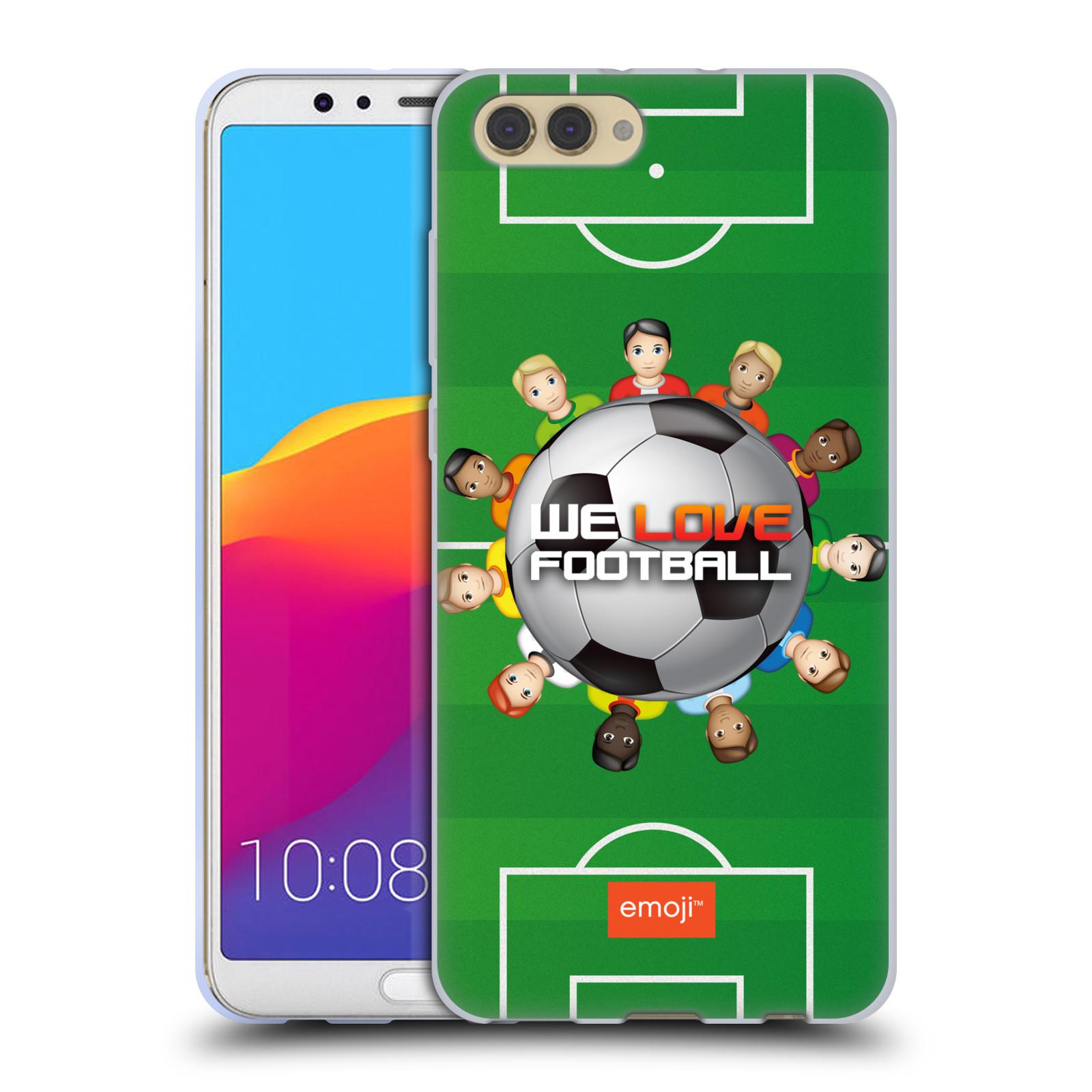 HEAD CASE silikonový obal na mobil Huawei HONOR VIEW 10 / V10 smajlíci oficiální kryt EMOJI vzor fotbal MILUJEME FOTBAL