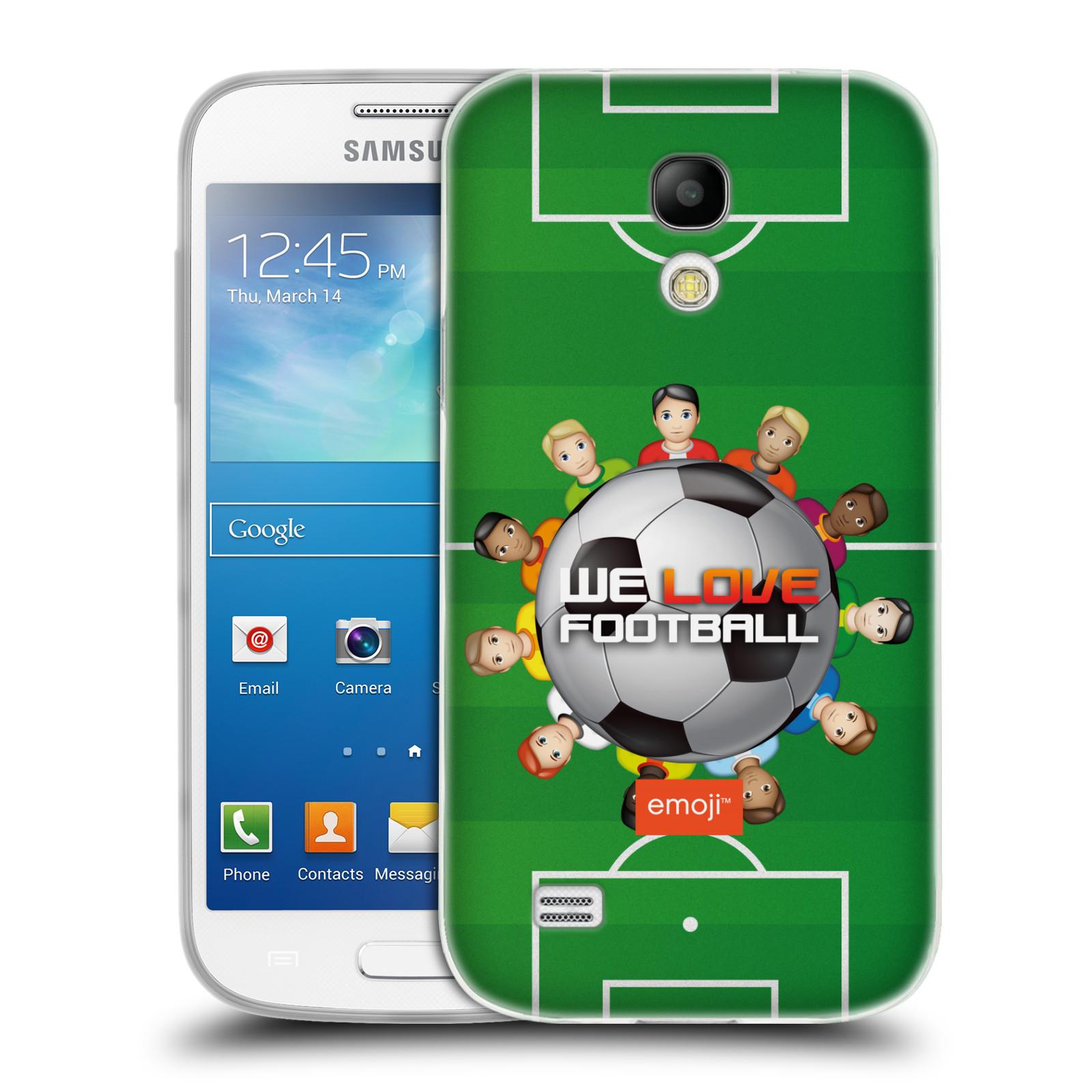 HEAD CASE silikonový obal na mobil Samsung Galaxy S4 MINI smajlíci oficiální kryt EMOJI vzor fotbal MILUJEME FOTBAL
