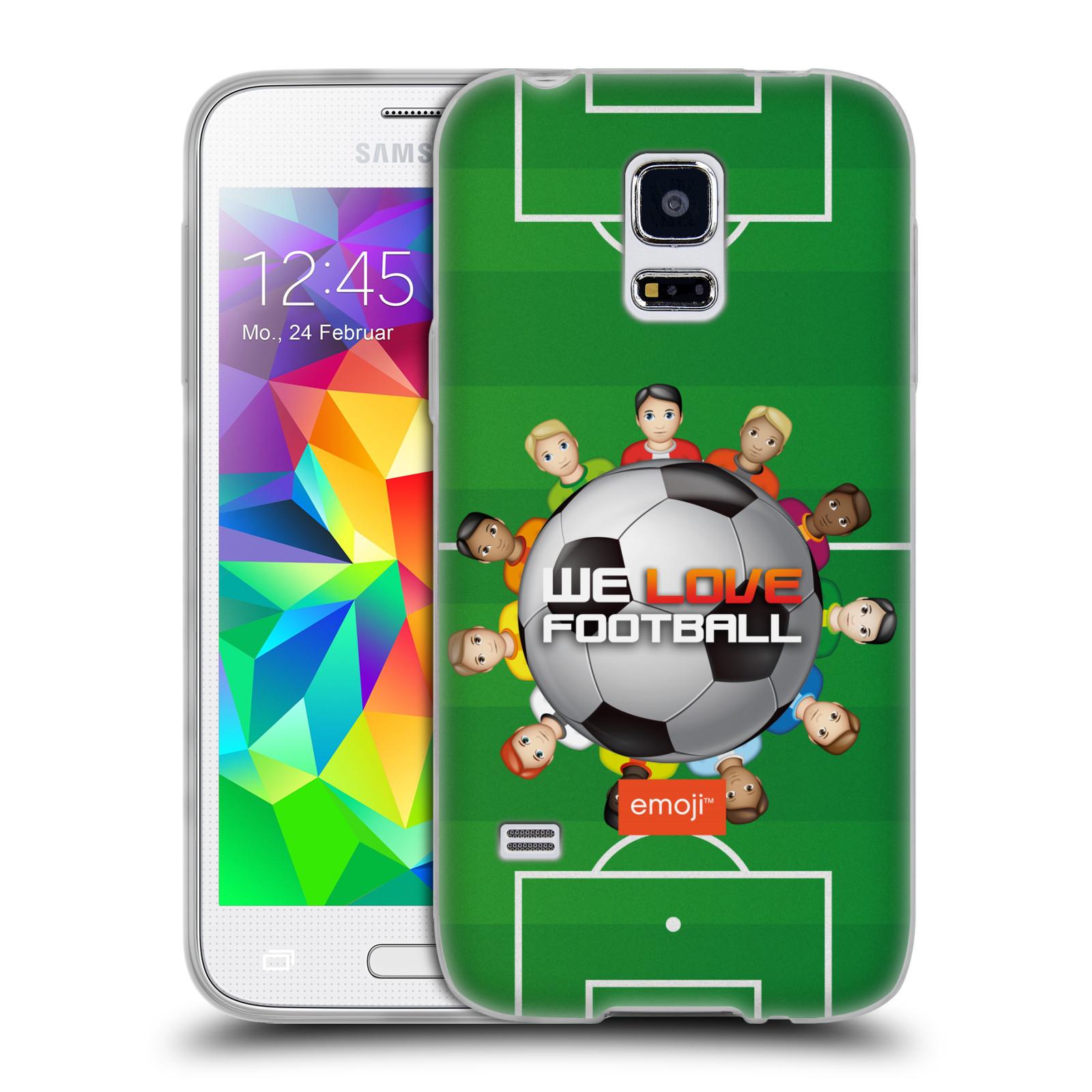HEAD CASE silikonový obal na mobil Samsung Galaxy S5 MINI smajlíci oficiální kryt EMOJI vzor fotbal MILUJEME FOTBAL