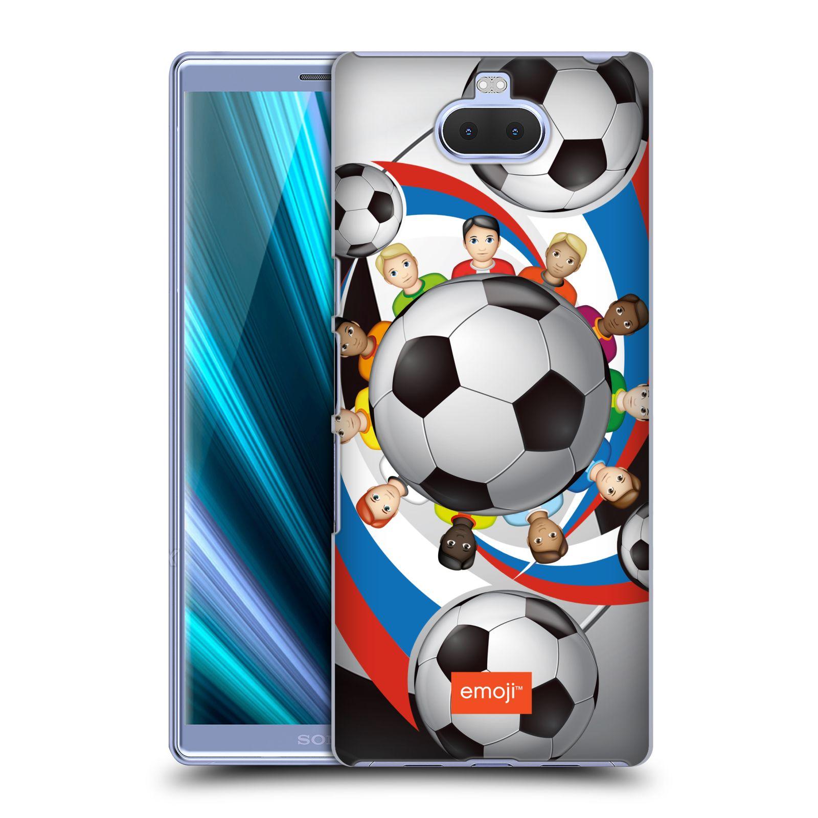 Pouzdro na mobil Sony Xperia 10 Plus - Head Case - smajlíci oficiální kryt EMOJI vzor fotbalové míče