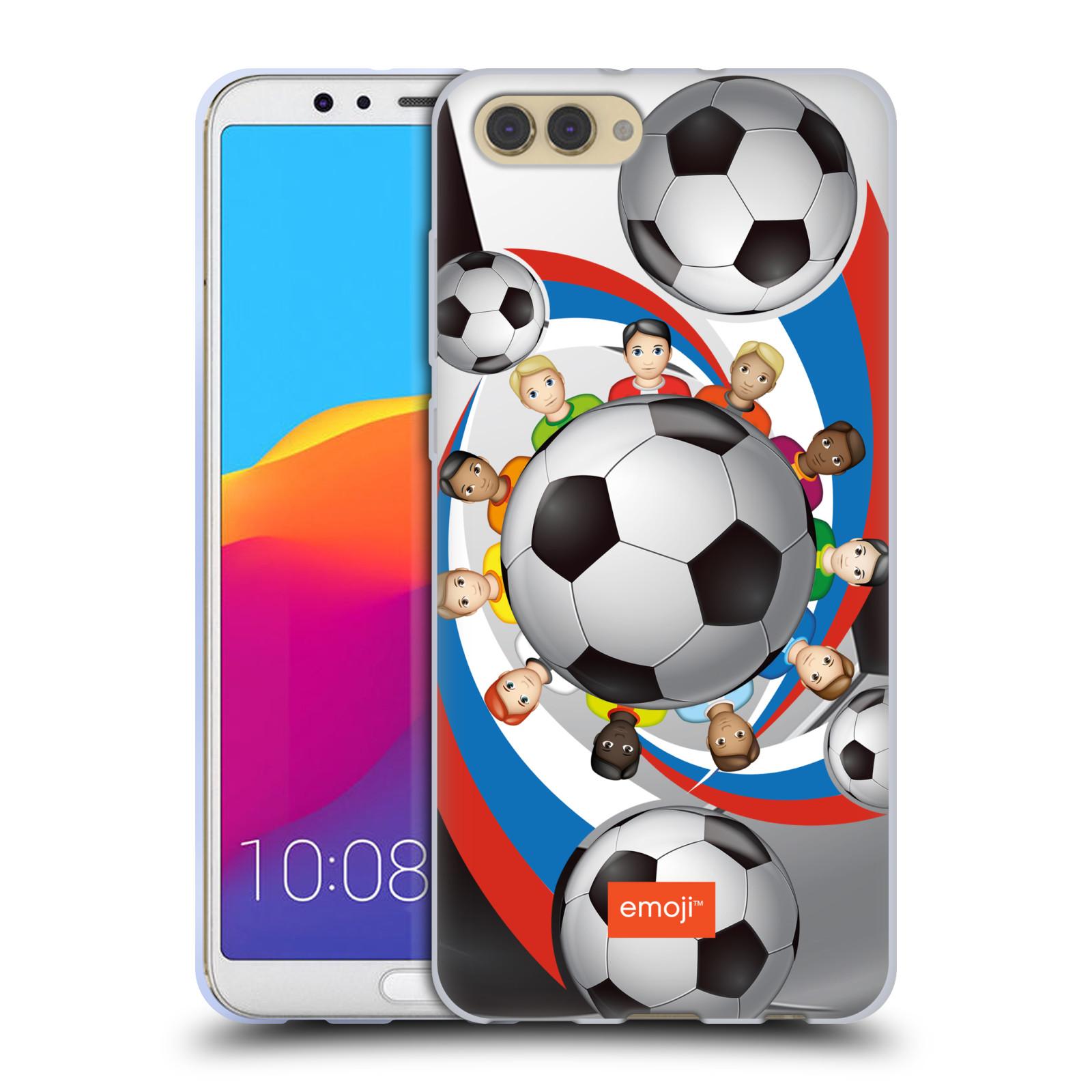 HEAD CASE silikonový obal na mobil Huawei HONOR VIEW 10 / V10 smajlíci oficiální kryt EMOJI vzor fotbalové míče