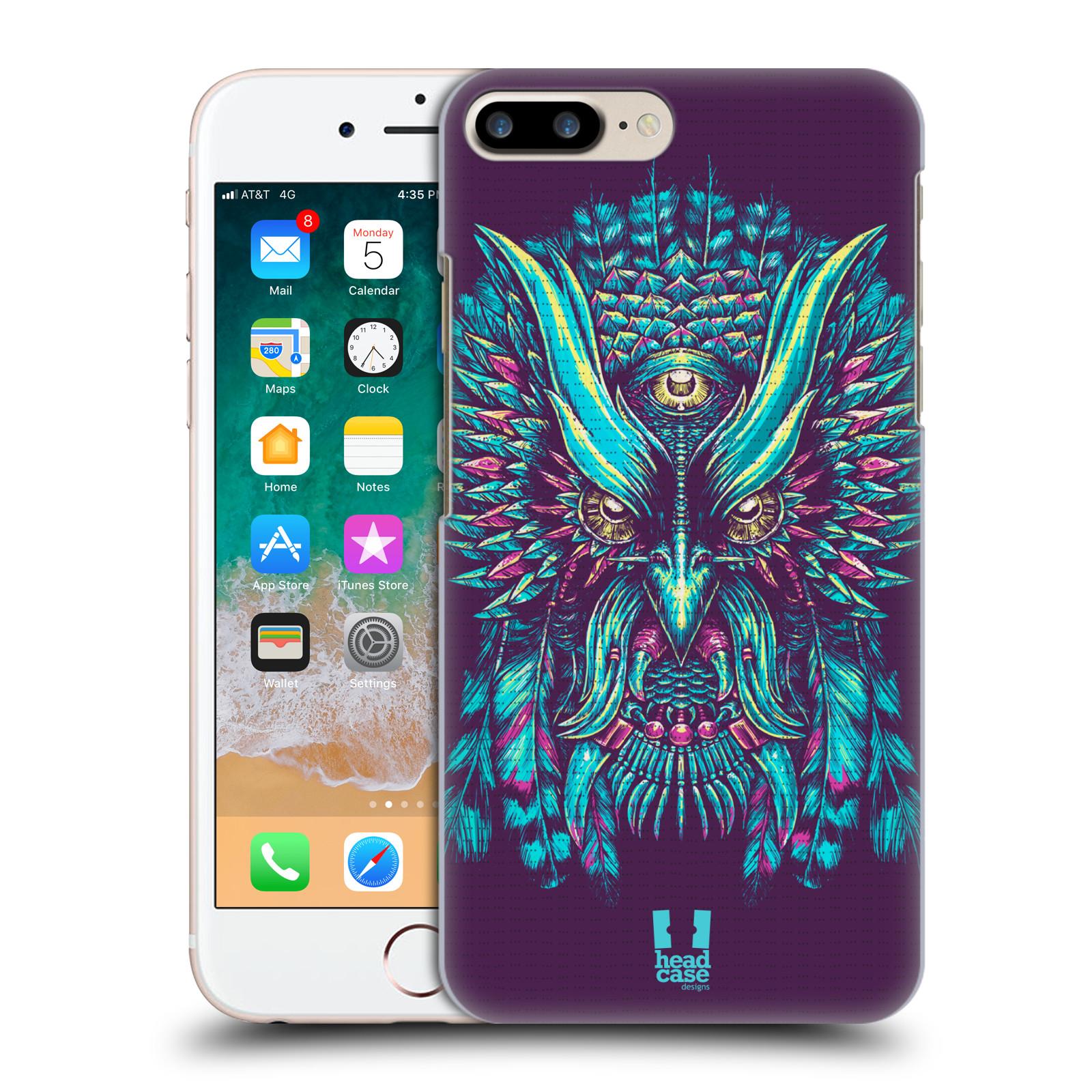 HEAD CASE plastový obal na mobil Apple Iphone 7 PLUS vzor Etnické sovy modrá a růžová