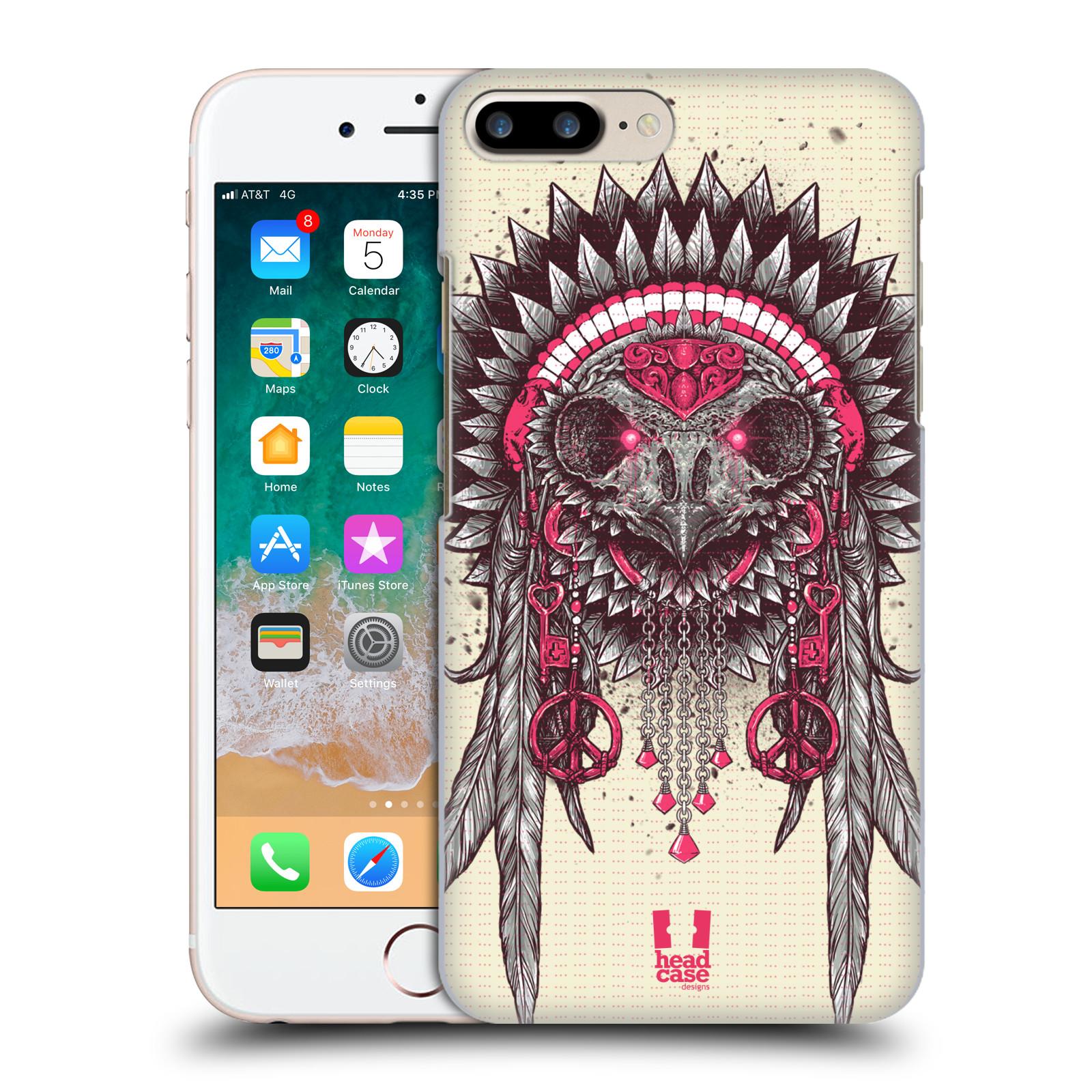 HEAD CASE plastový obal na mobil Apple Iphone 7 PLUS vzor Etnické sovy růžová a šedá