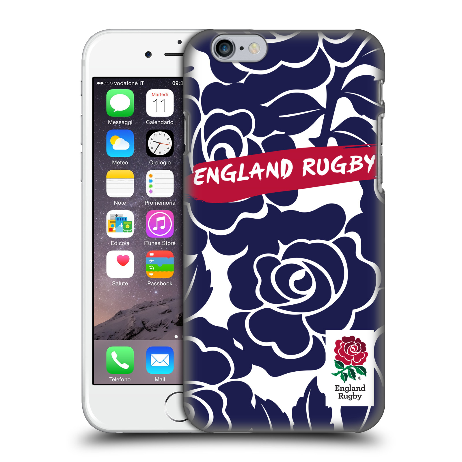 England Rugby Union 2016/17 Patterns-Bold Navy Rose