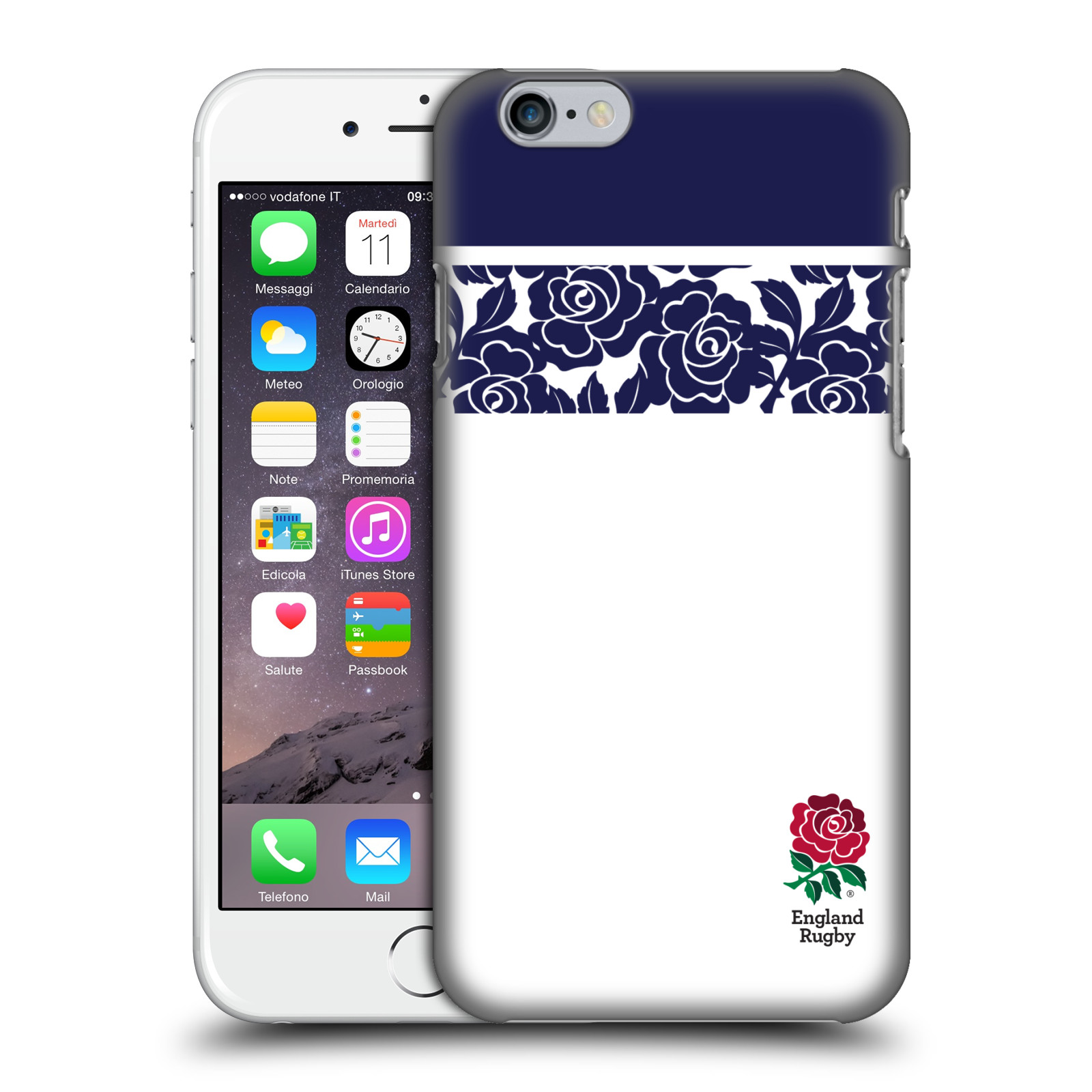 England Rugby Union 2016/17 Patterns-Navy Striped Rose