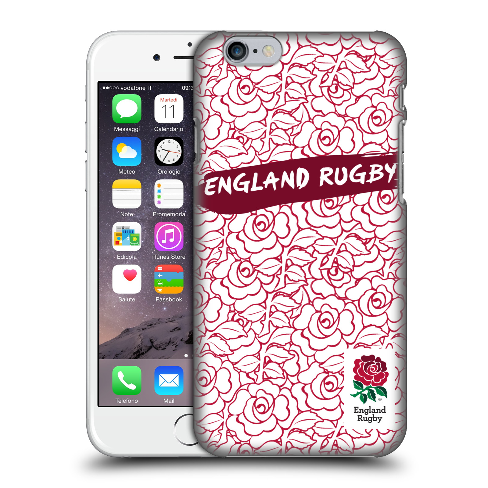 England Rugby Union 2016/17 Patterns-Red Outline Rose
