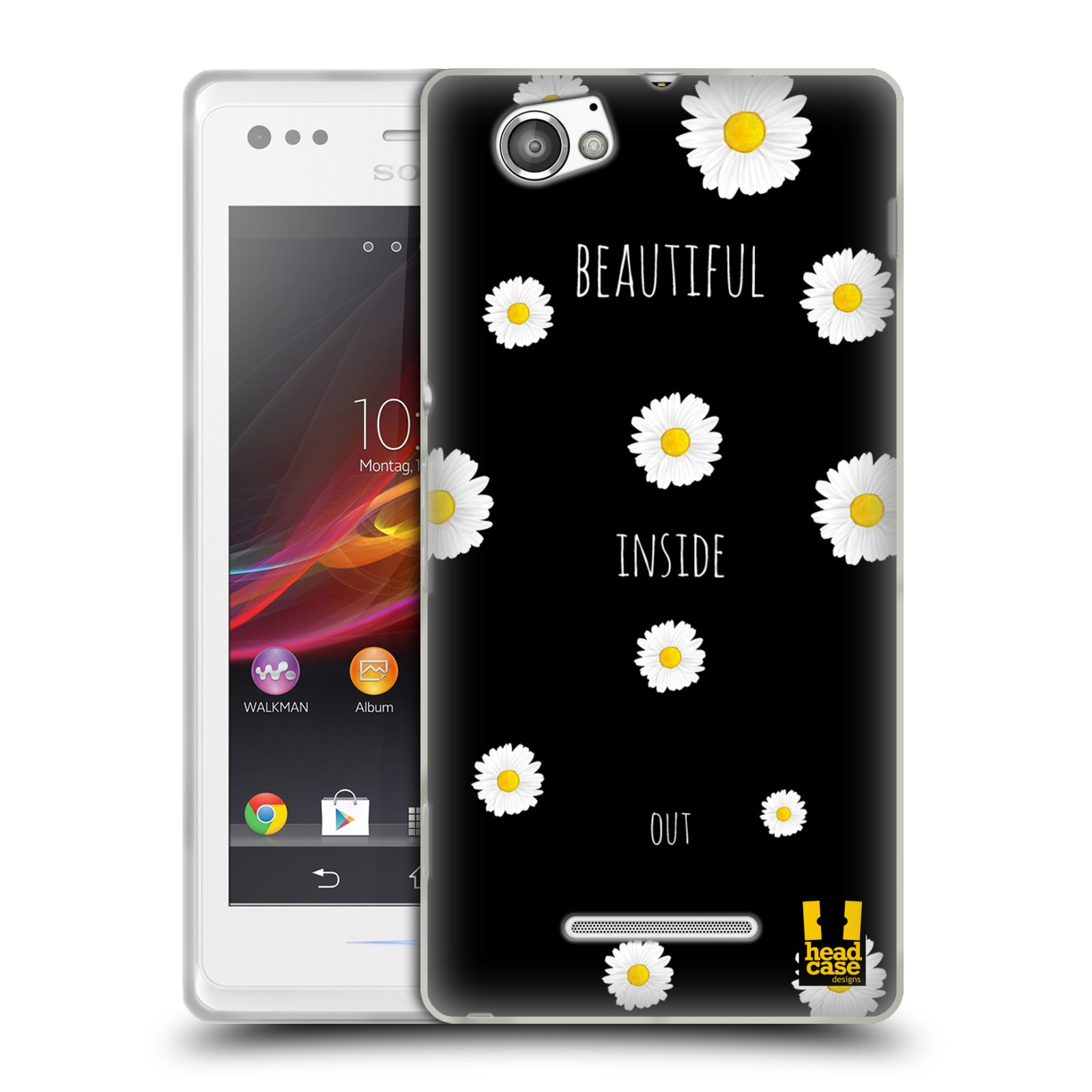 HEAD CASE EVERYTHING DAISIES SILICONE GEL CASE FOR SONY XPERIA M C1905
