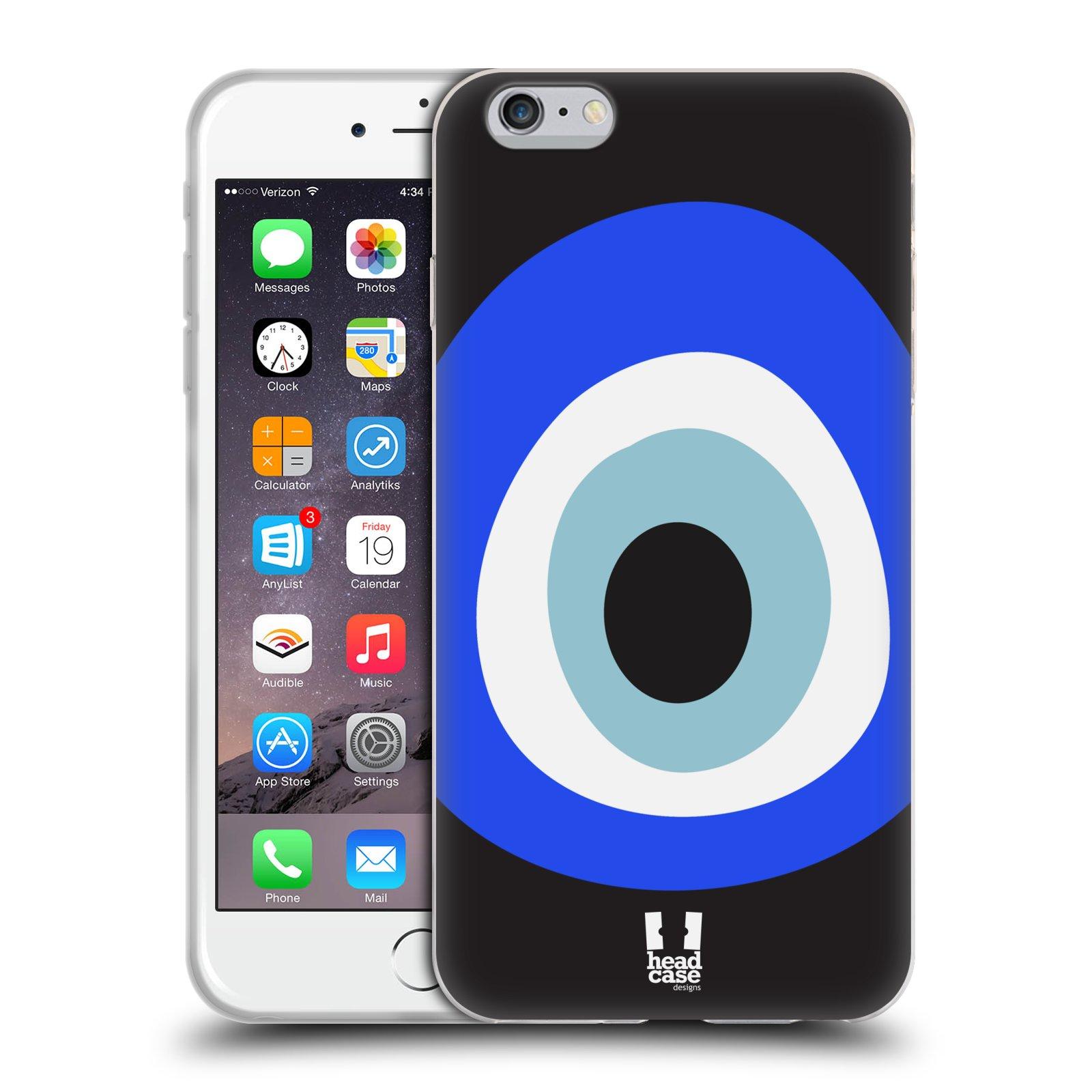 HEAD CASE silikonový obal na mobil Apple Iphone 6 PLUS/ 6S PLUS vzor Paví oko letokruhy