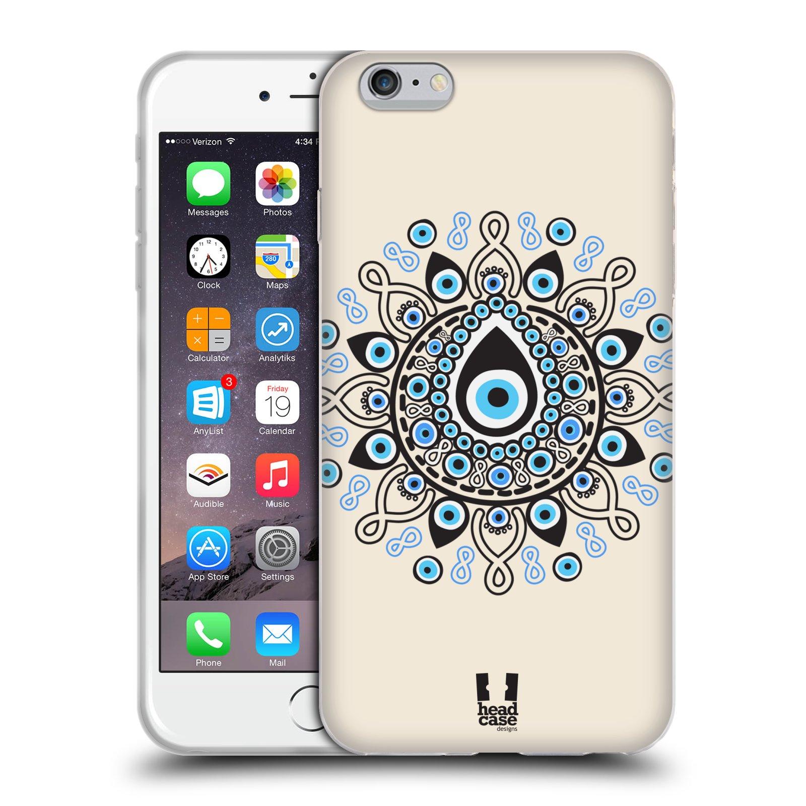 HEAD CASE silikonový obal na mobil Apple Iphone 6 PLUS/ 6S PLUS vzor Paví oko kruh